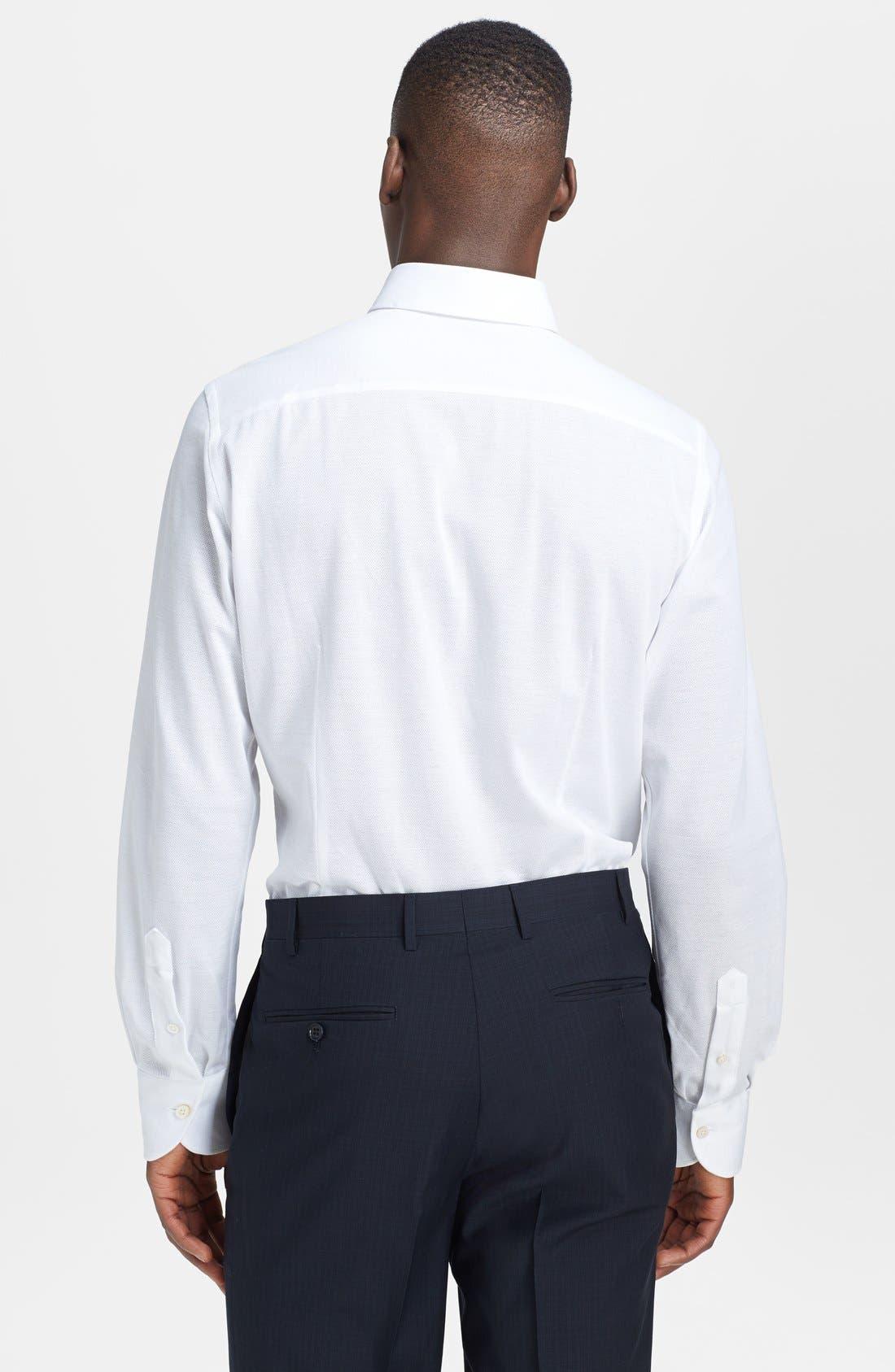 Alternate Image 2  - Canali Cotton & Linen Knit Italian Sport Shirt