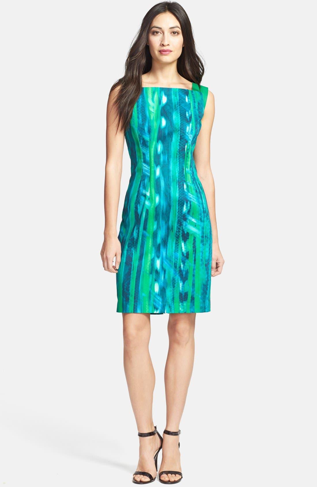Main Image - Elie Tahari 'David' Square Neck Sheath Dress
