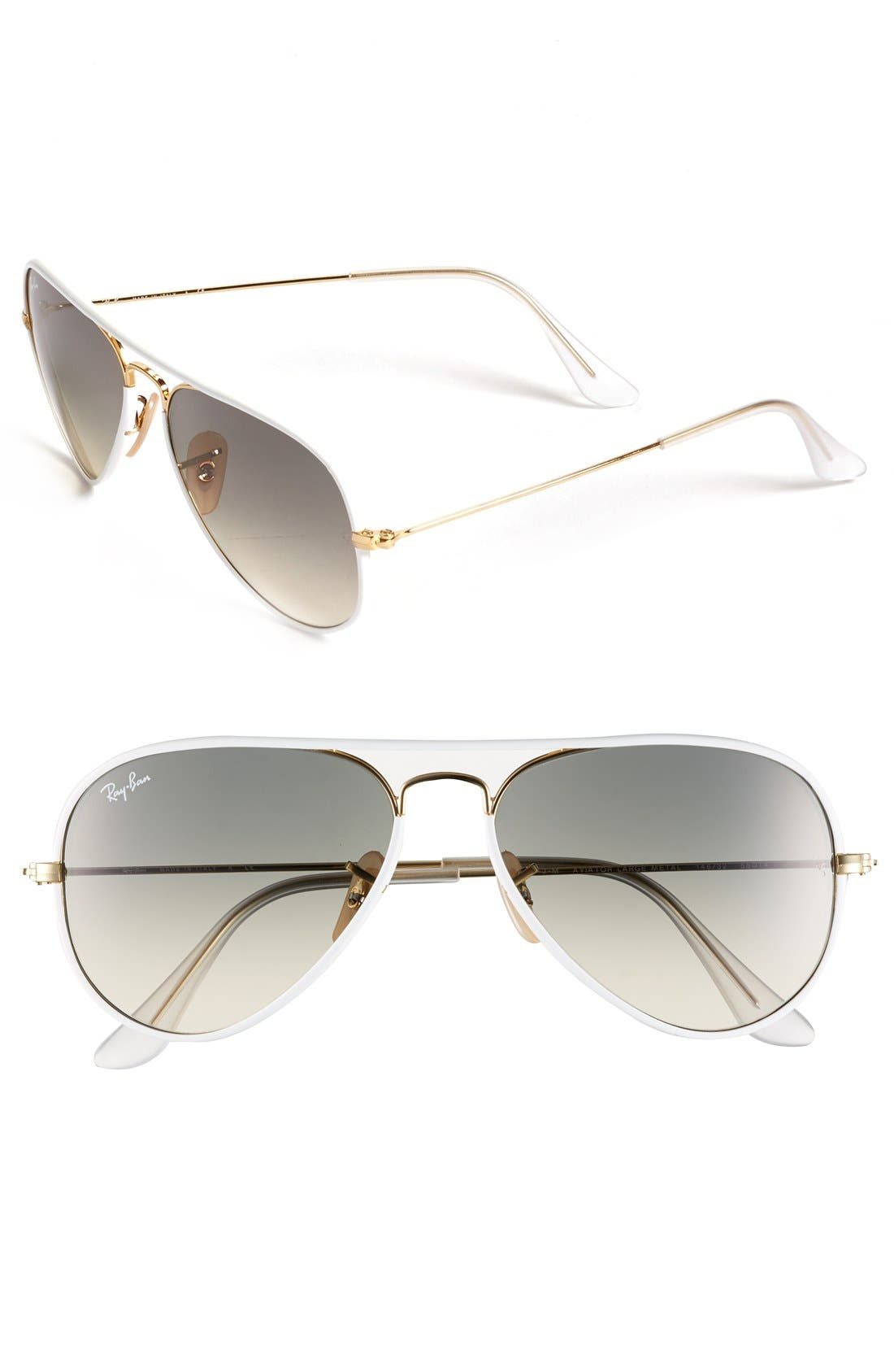 Alternate Image 1 Selected - Ray-Ban Aviator 58mm Sunglasses