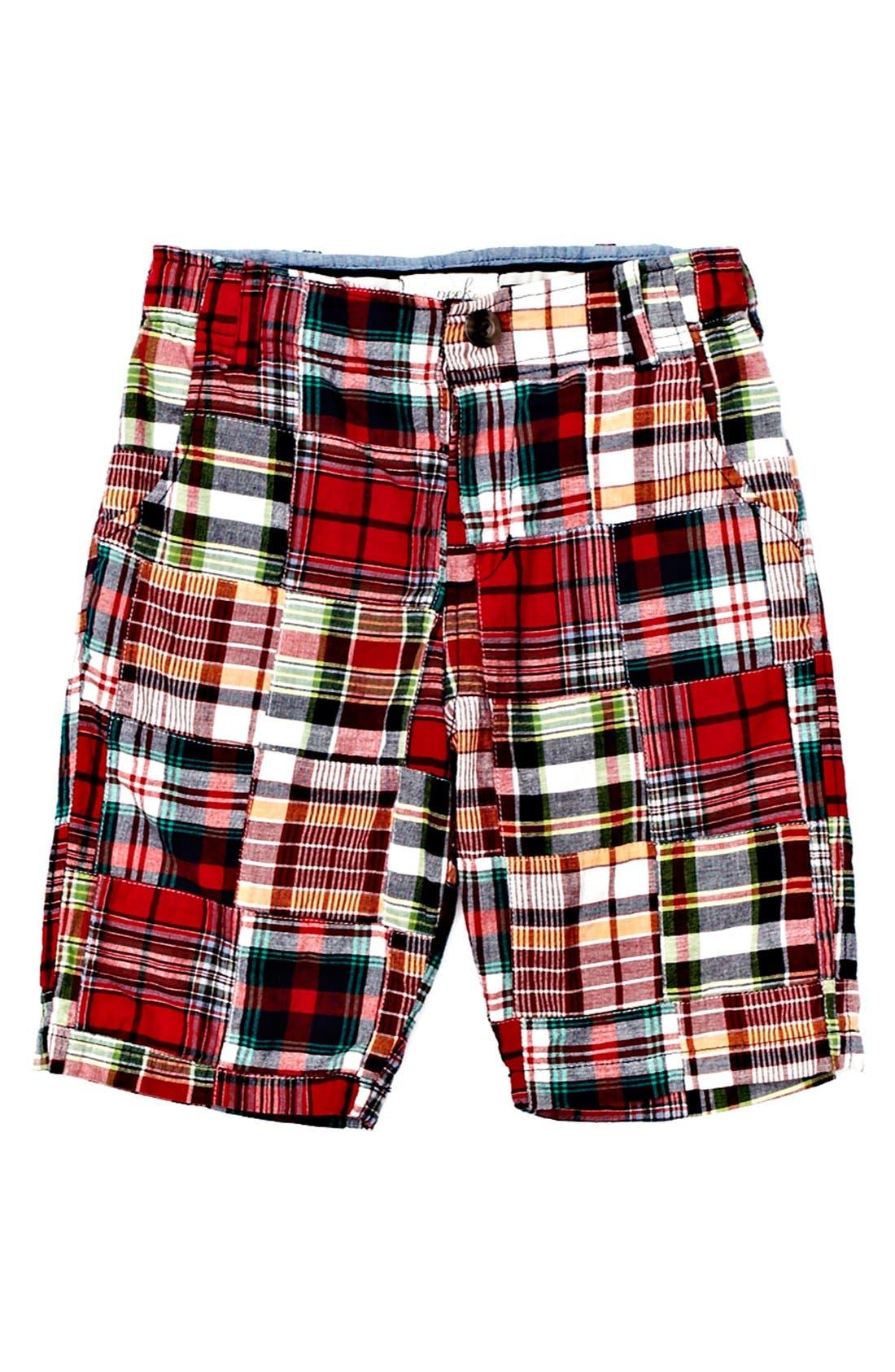 Alternate Image 1 Selected - Peek 'Hampton Patch' Plaid Shorts (Toddler Boys, Little Boys & Big Boys)