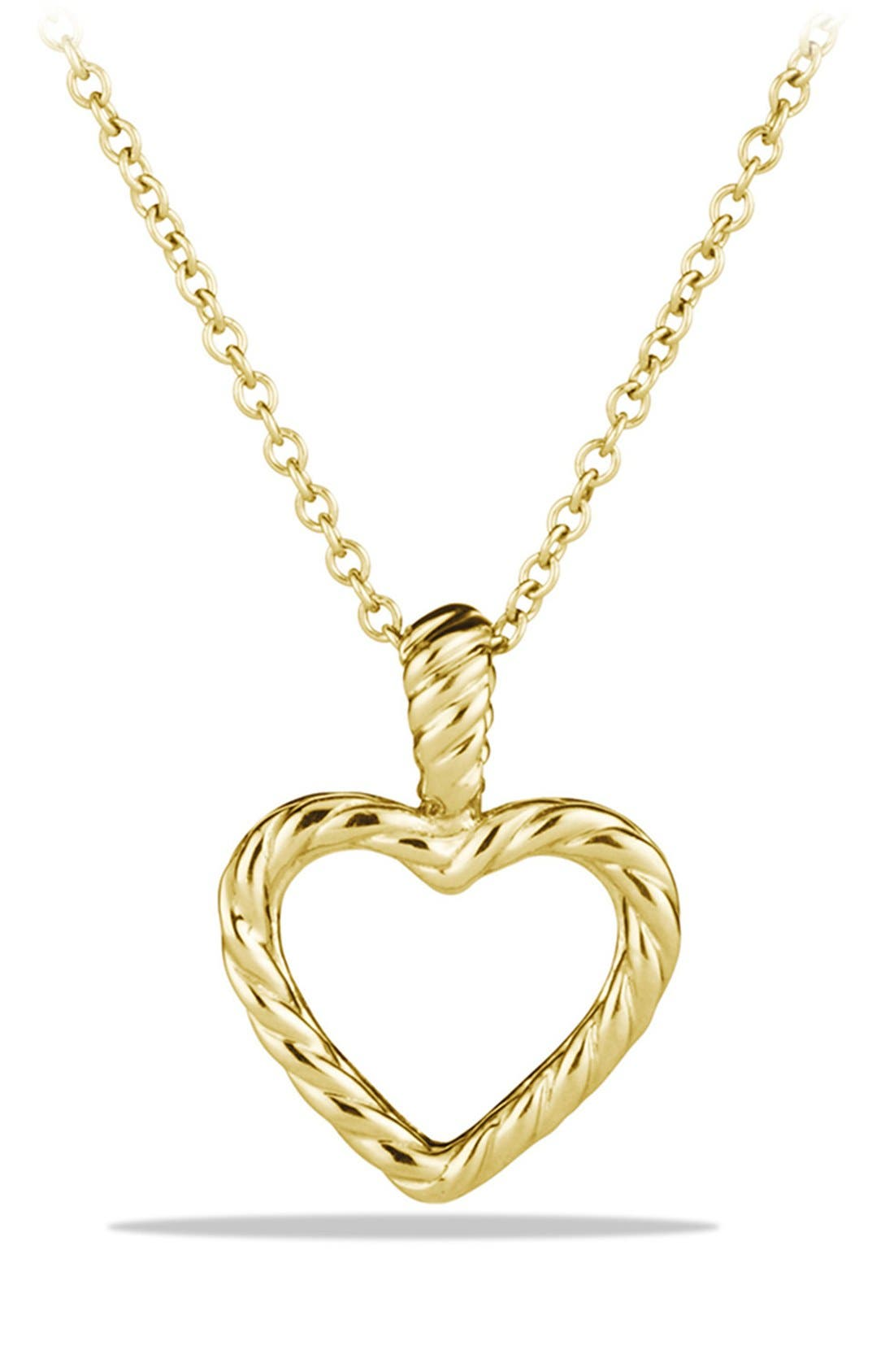 Alternate Image 2  - David Yurman 'Cable Collectibles' Heart Pendant with Diamonds on Chain