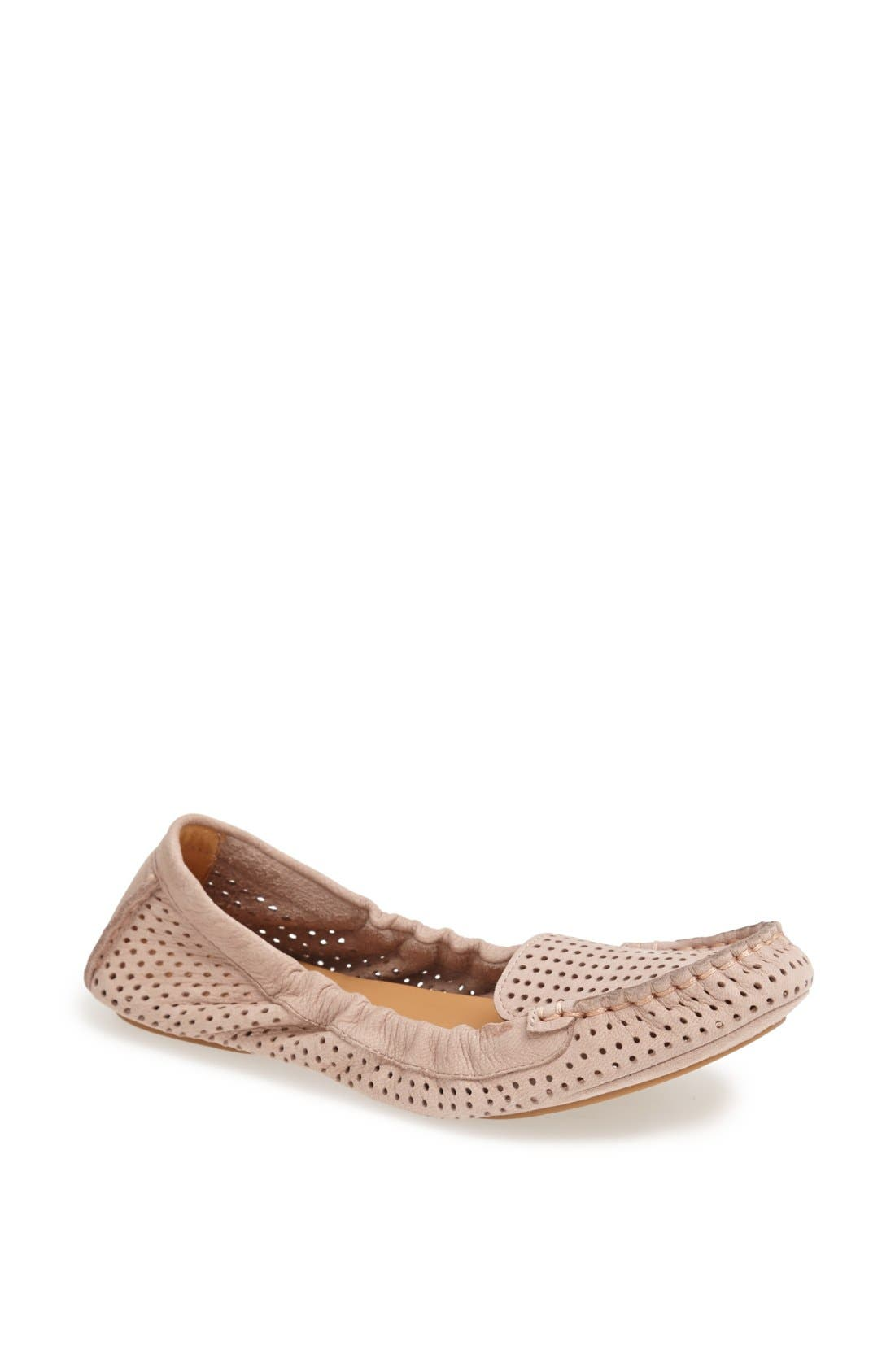Alternate Image 1 Selected - Nine West 'Teanna' Perforated Nubuck Flat
