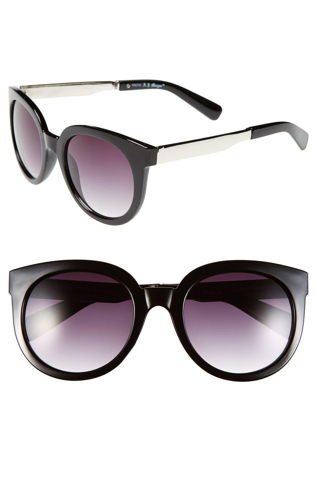 Main Image - A.J. Morgan 'Classy' 50mm Retro Sunglasses