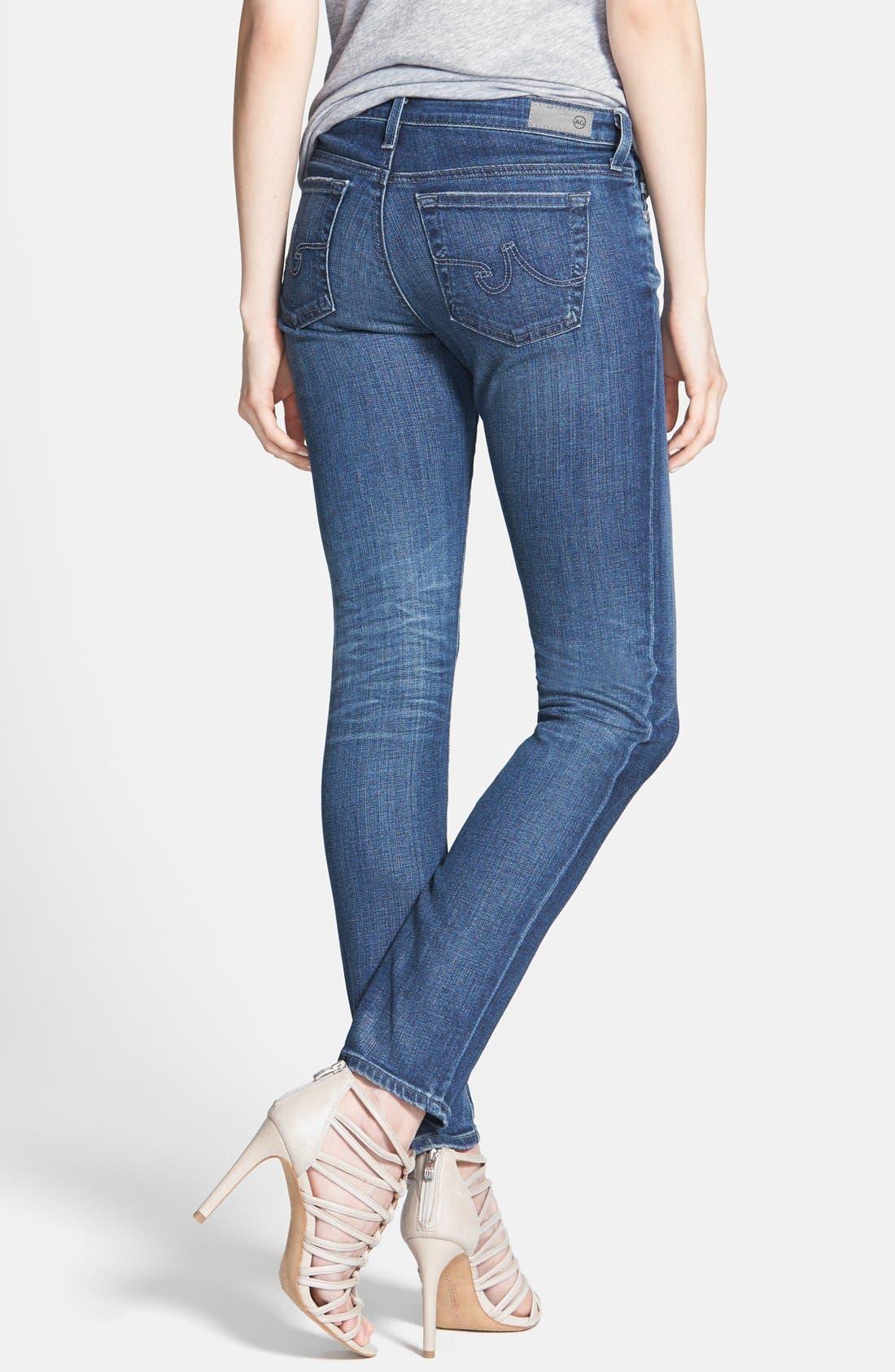 Alternate Image 2  - AG 'Stilt' Cigarette Leg Jeans (Nine Years Evolved)