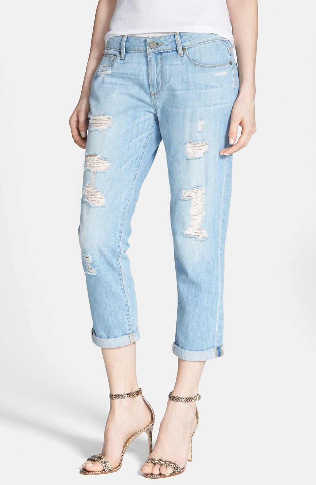 Alternate Image 1 Selected - Paige Denim 'Jimmy Jimmy' Destroyed Crop Boyfriend Jeans (Naomi Distressed)