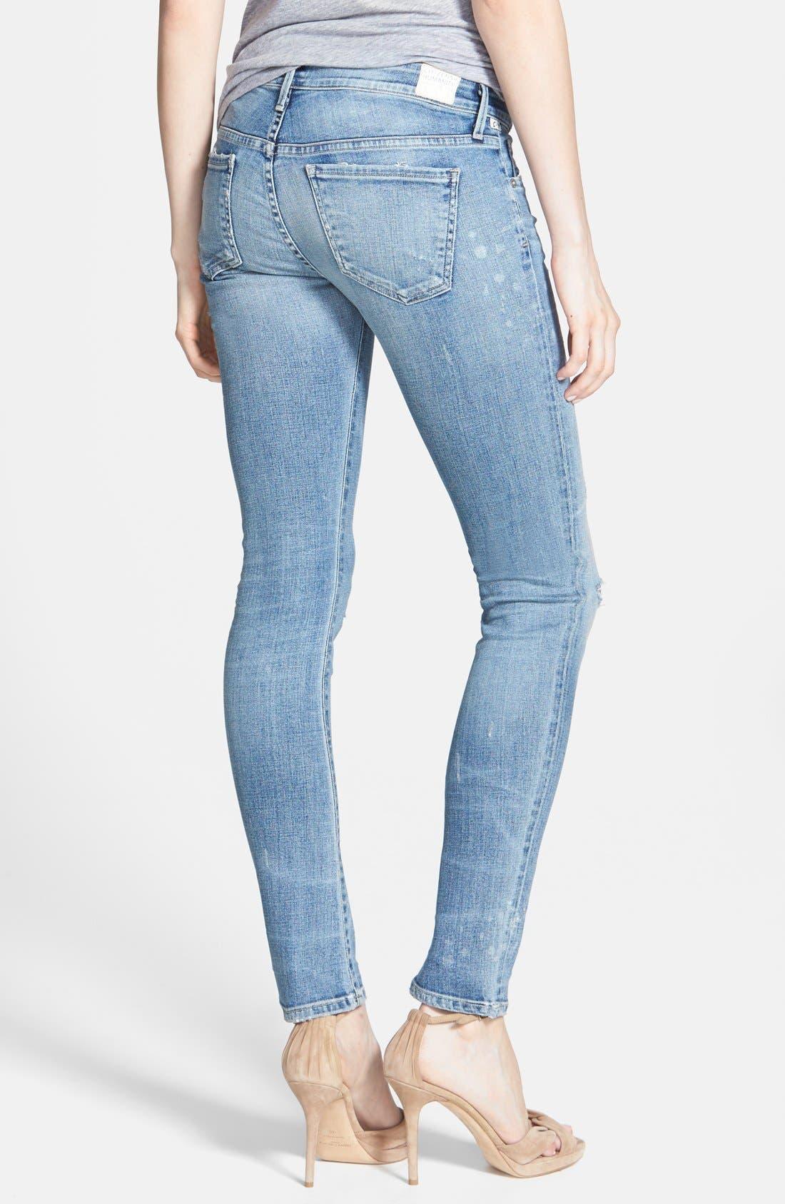 Alternate Image 2  - Citizens of Humanity 'Premium Vintage - Racer' Distressed Skinny Jeans (Crosby)
