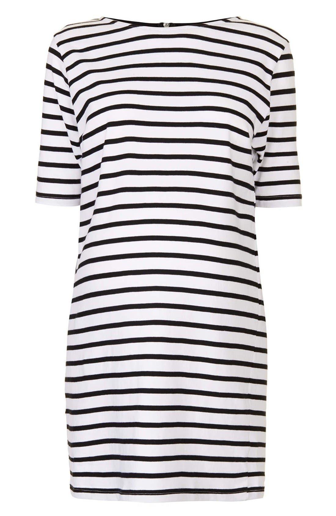 Alternate Image 3  - Topshop Stripe Cotton Maternity Tunic Dress
