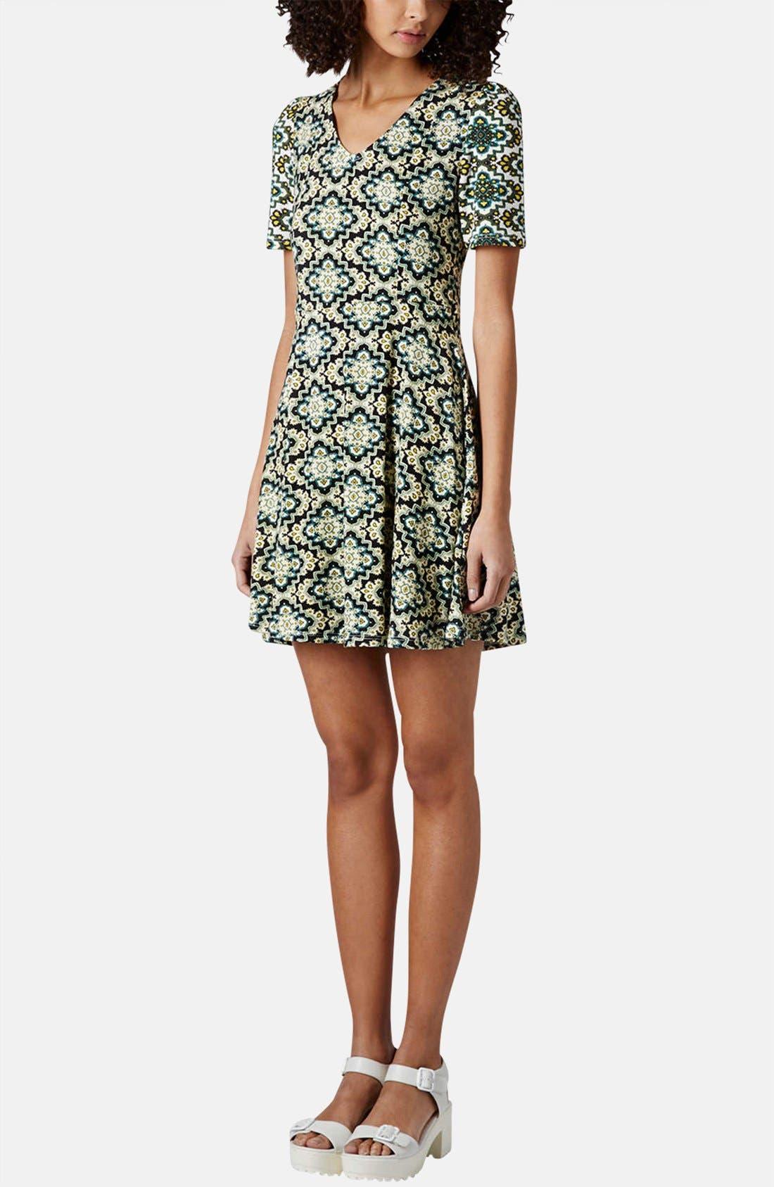Alternate Image 5  - Topshop 'Emma' Folk Print Jersey Dress