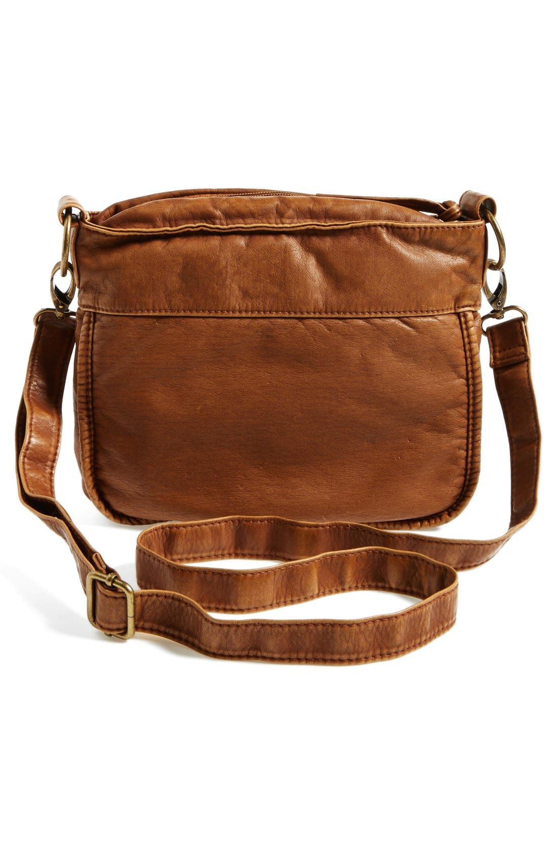 Alternate Image 3  - T-Shirt & Jeans Zip Pocket Small Crossbody Bag (Juniors)