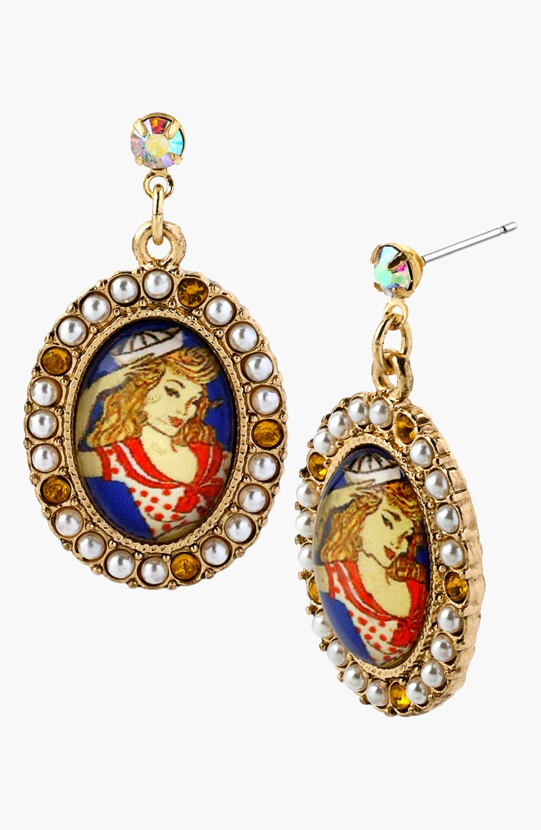Alternate Image 1 Selected - Betsey Johnson 'Anchor Boost' Drop Earrings