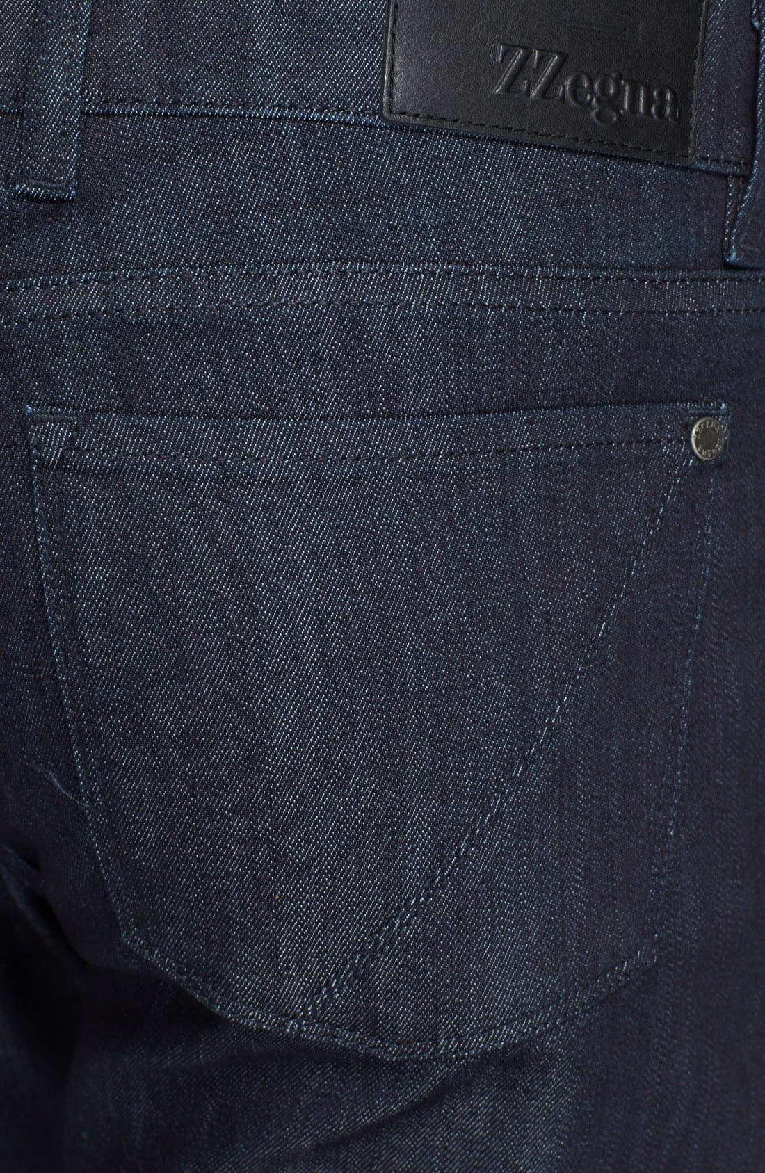 Alternate Image 4  - Z Zegna Slim Straight Leg Jeans (Navy Solid)
