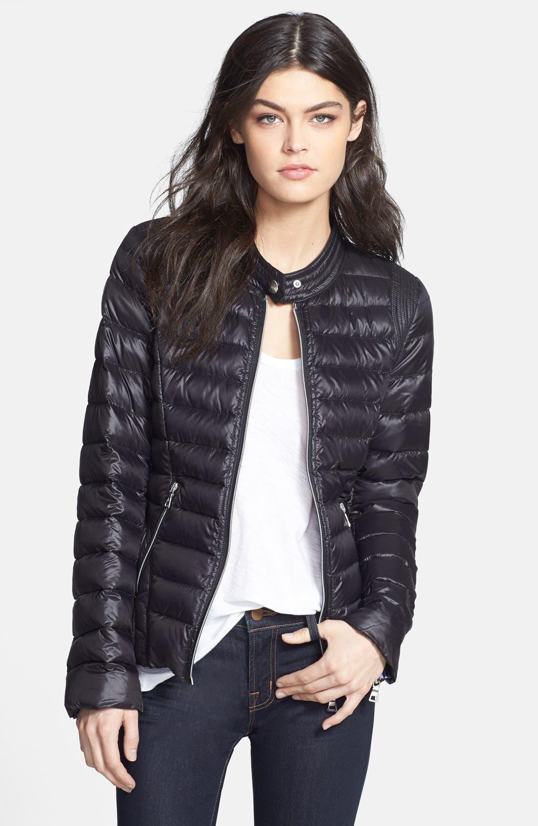 Alternate Image 1 Selected - Sam Edelman 'Barbara' Packable Down Moto Jacket