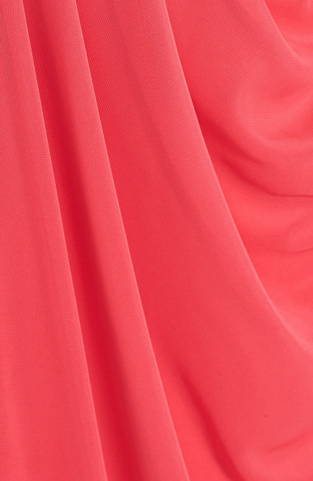 Alternate Image 3  - JS Boutique Pleated & Draped Jersey Chiffon Strapless Gown