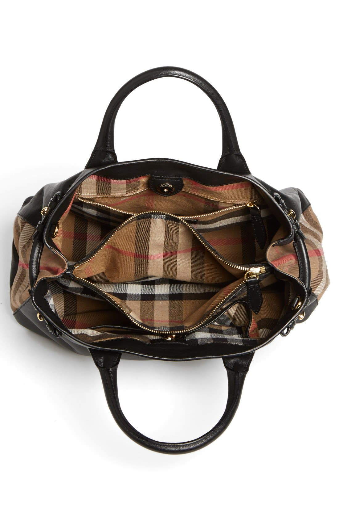 Alternate Image 3  - Burberry 'Medium Banner' House Check Leather Tote