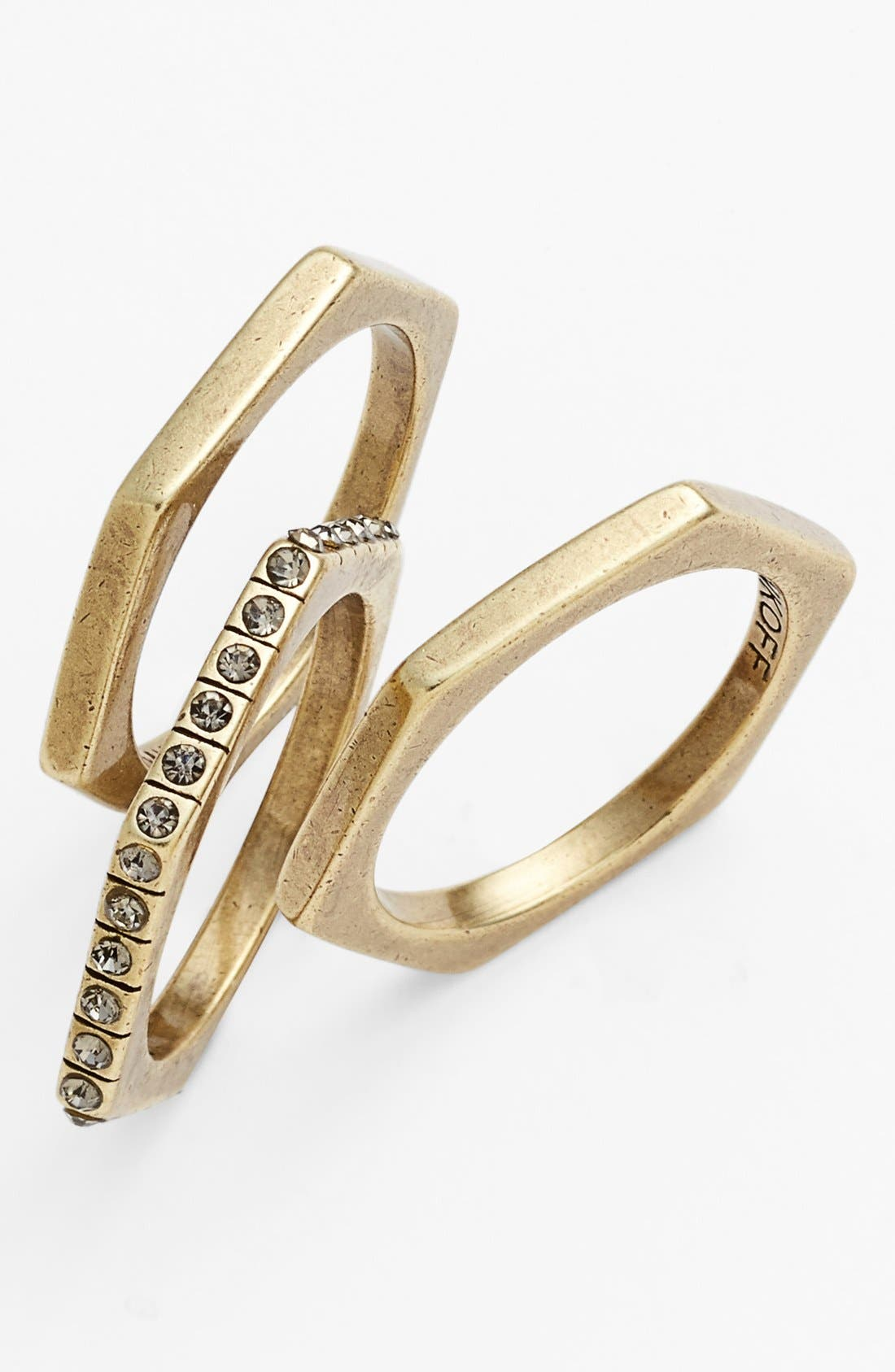 Main Image - Rebecca Minkoff Stackable Rings (Set of 3)