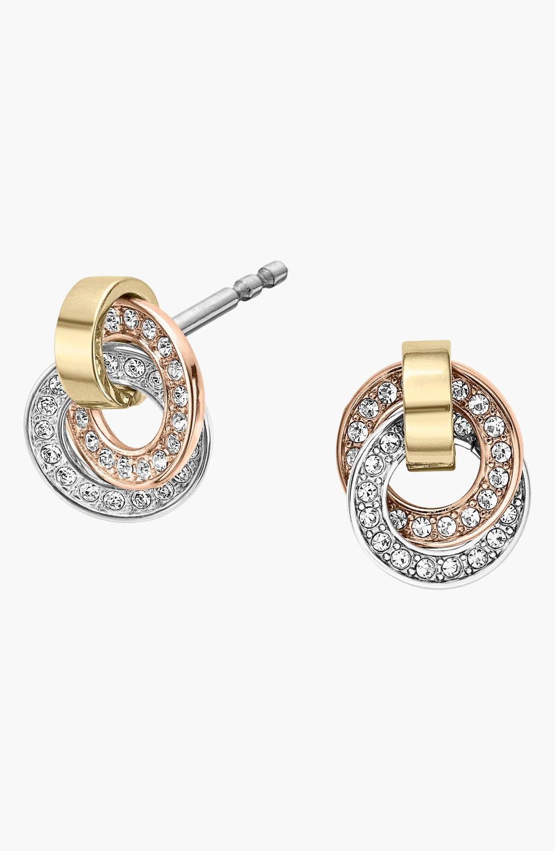 Main Image - Michael Kors 'Statement Brilliance' Pavé Stud Earrings