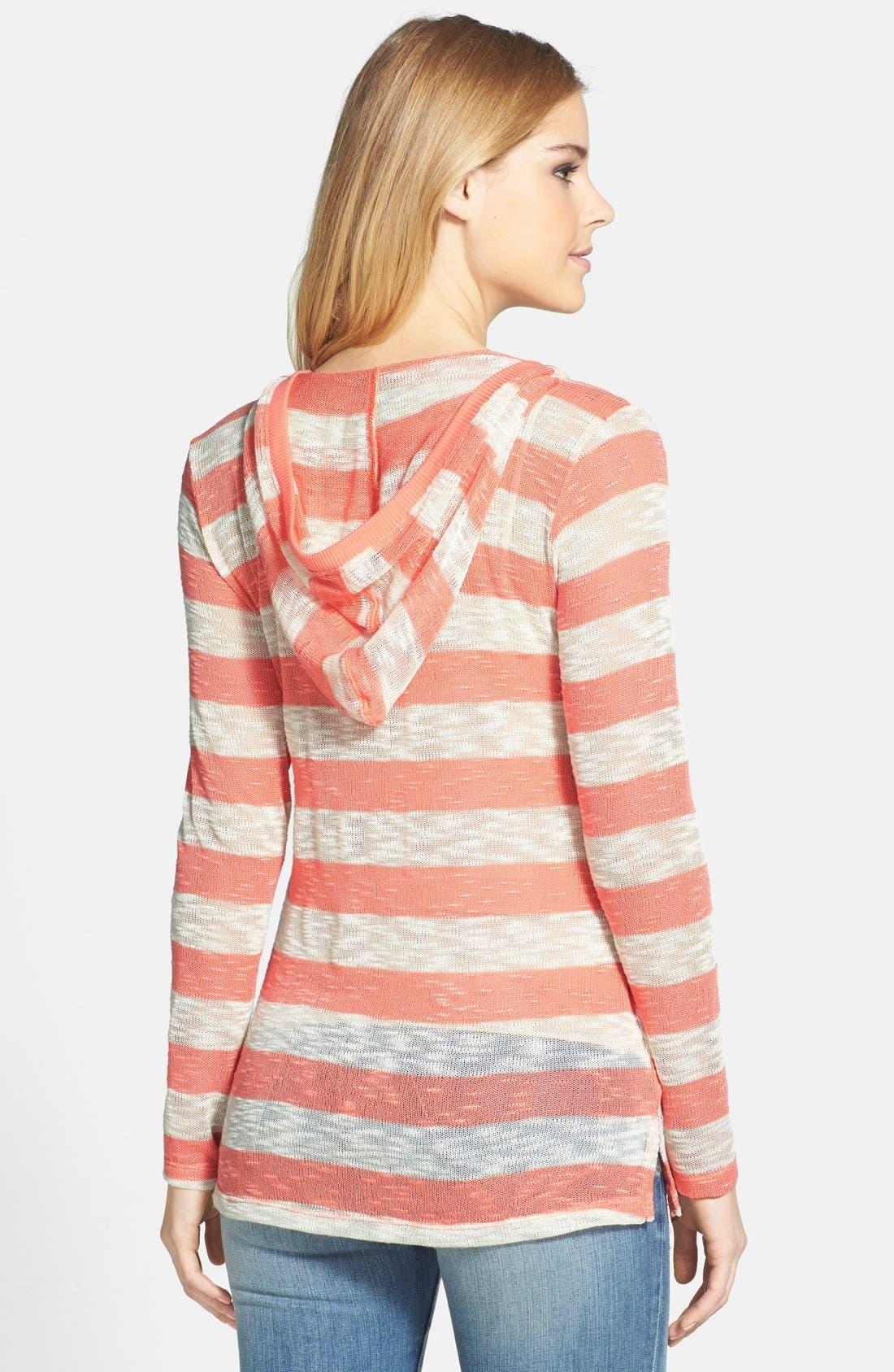 Alternate Image 2  - Bobeau Stripe Hoodie Pullover