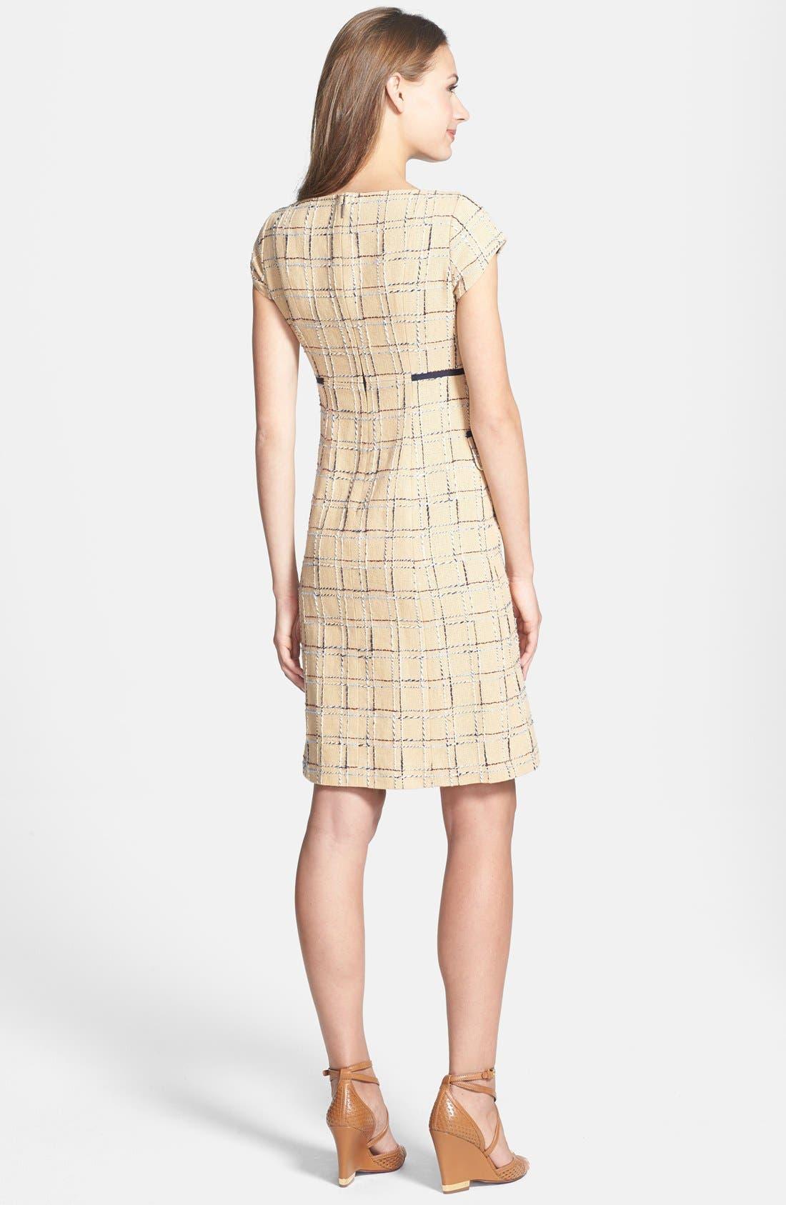 Alternate Image 2  - Tory Burch 'Evie' Woven Cotton & Linen Sheath Dress