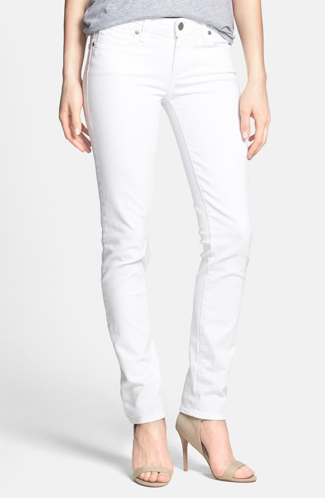 Alternate Image 1 Selected - PAIGE 'Skyline' Skinny Jeans (Optic White)