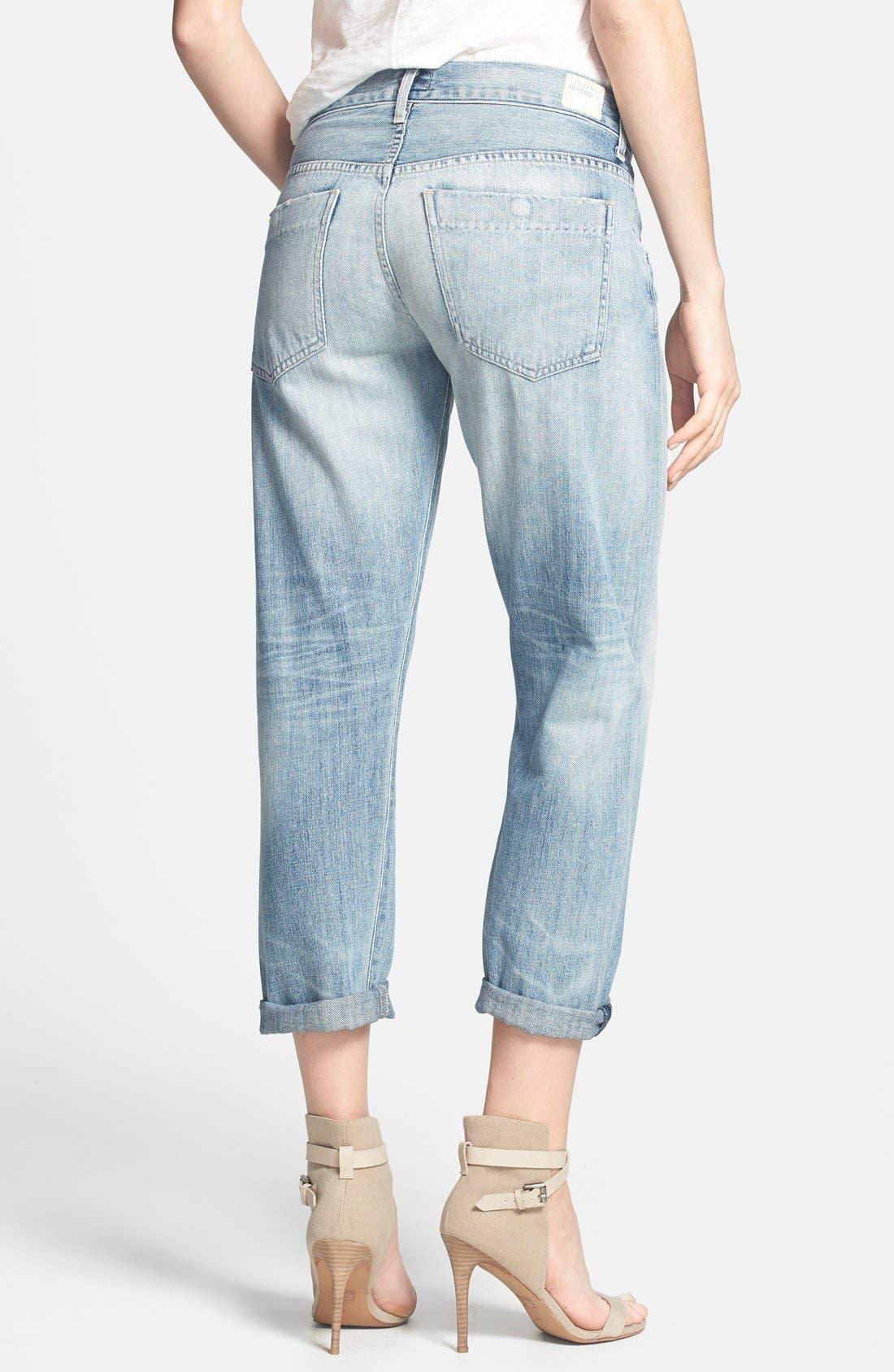 Alternate Image 2  - Citizens of Humanity 'Premium Vintage - Skyler' Boyfriend Crop Jeans (Archive)