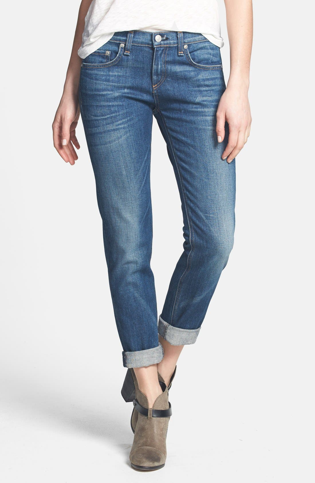 Alternate Image 1 Selected - rag & bone/JEAN 'The Dre' Slim Fit Boyfriend Jeans (Bradford)