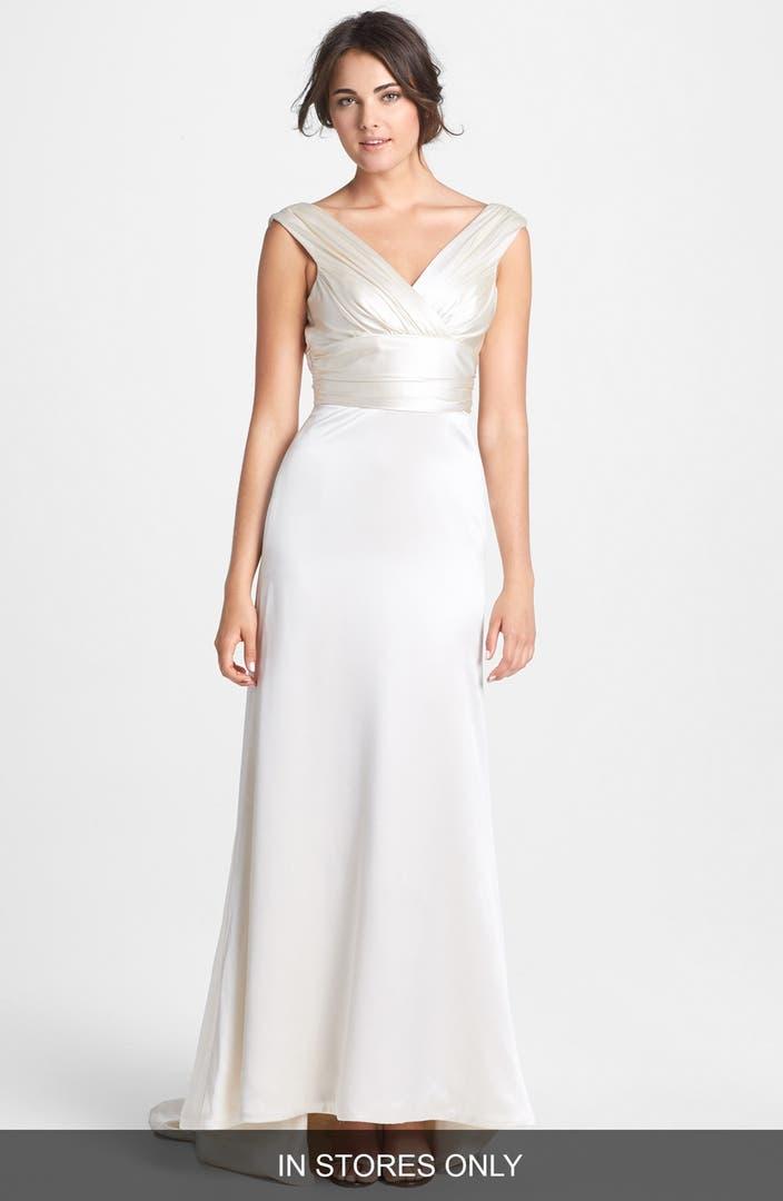 Wedding dresses nordstrom for Silk charmeuse wedding dress