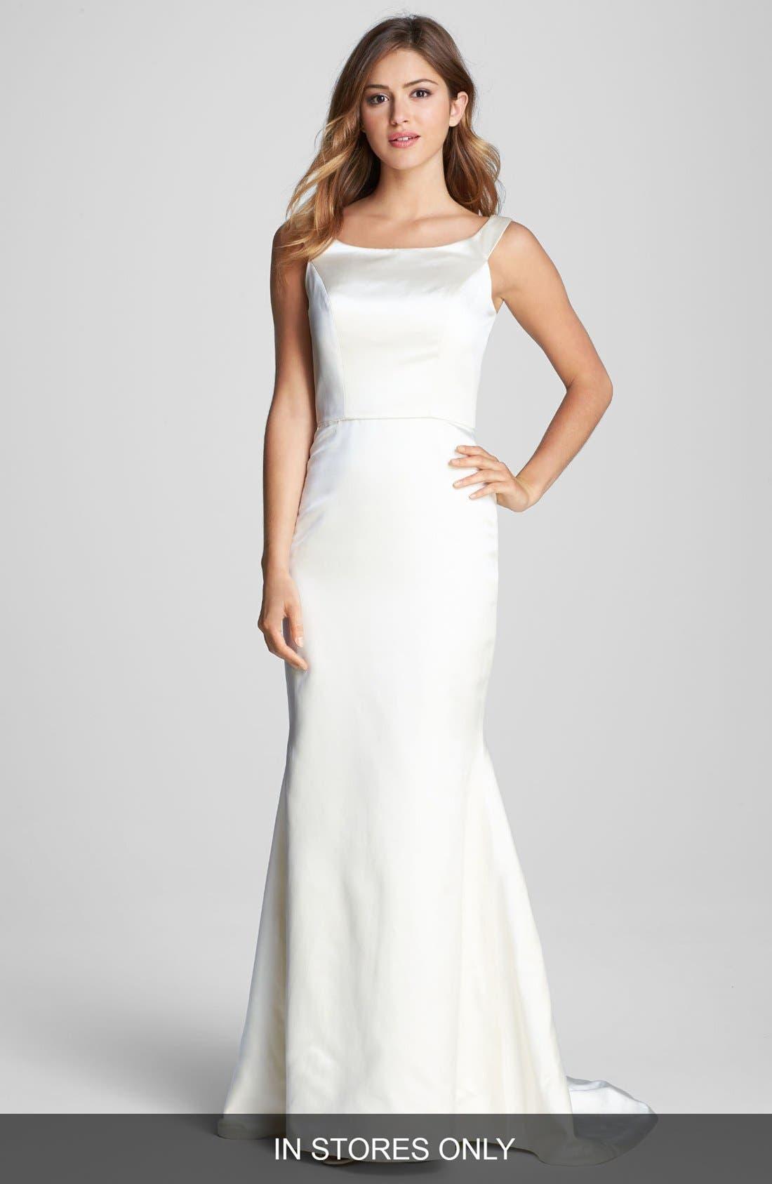 Alternate Image 1 Selected - Caroline DeVillo 'Lauren' Silk Trumpet Dress (In Stores Only)