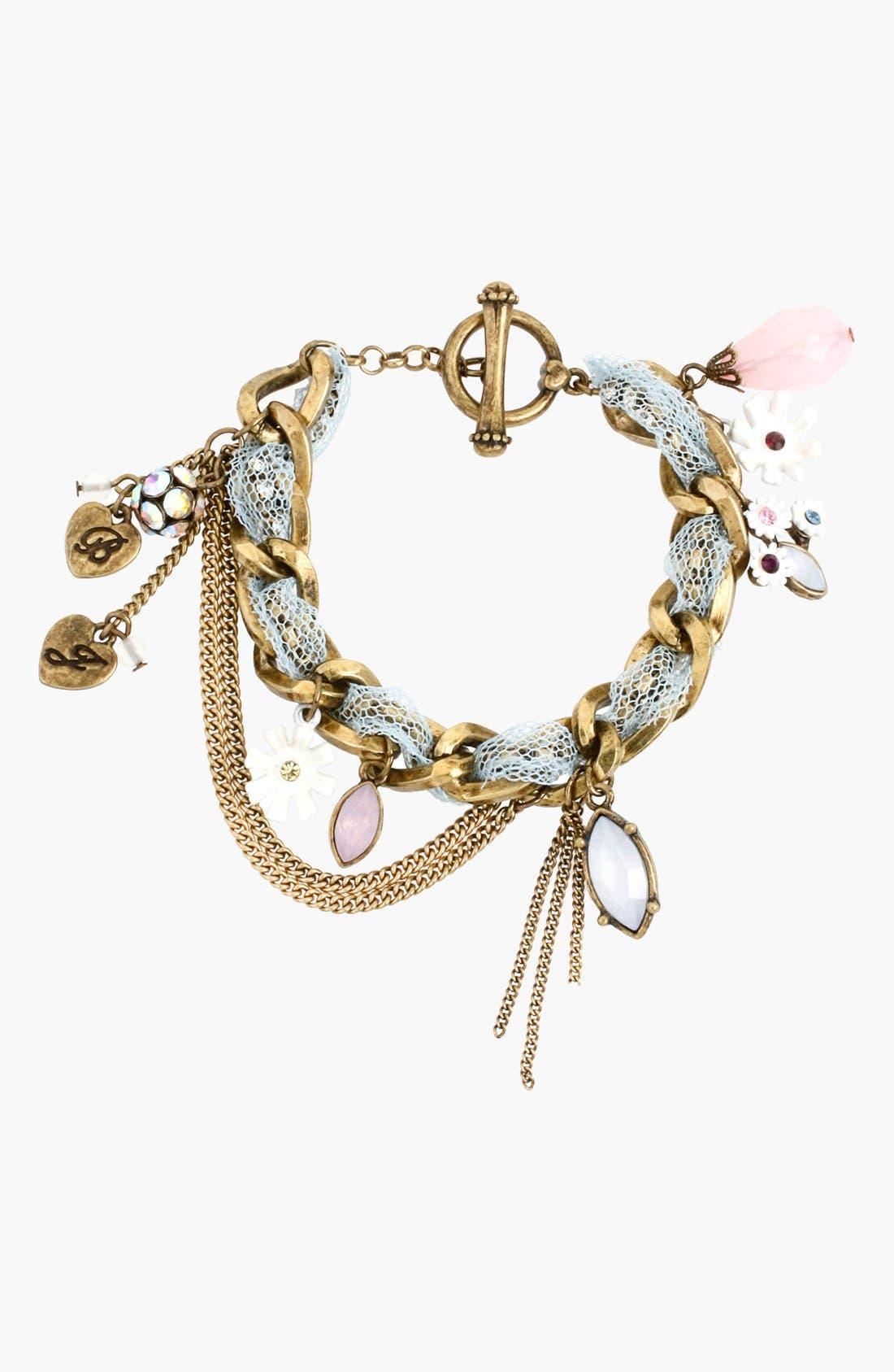 Alternate Image 1 Selected - Betsey Johnson 'Girlie Grunge' Charm Bracelet