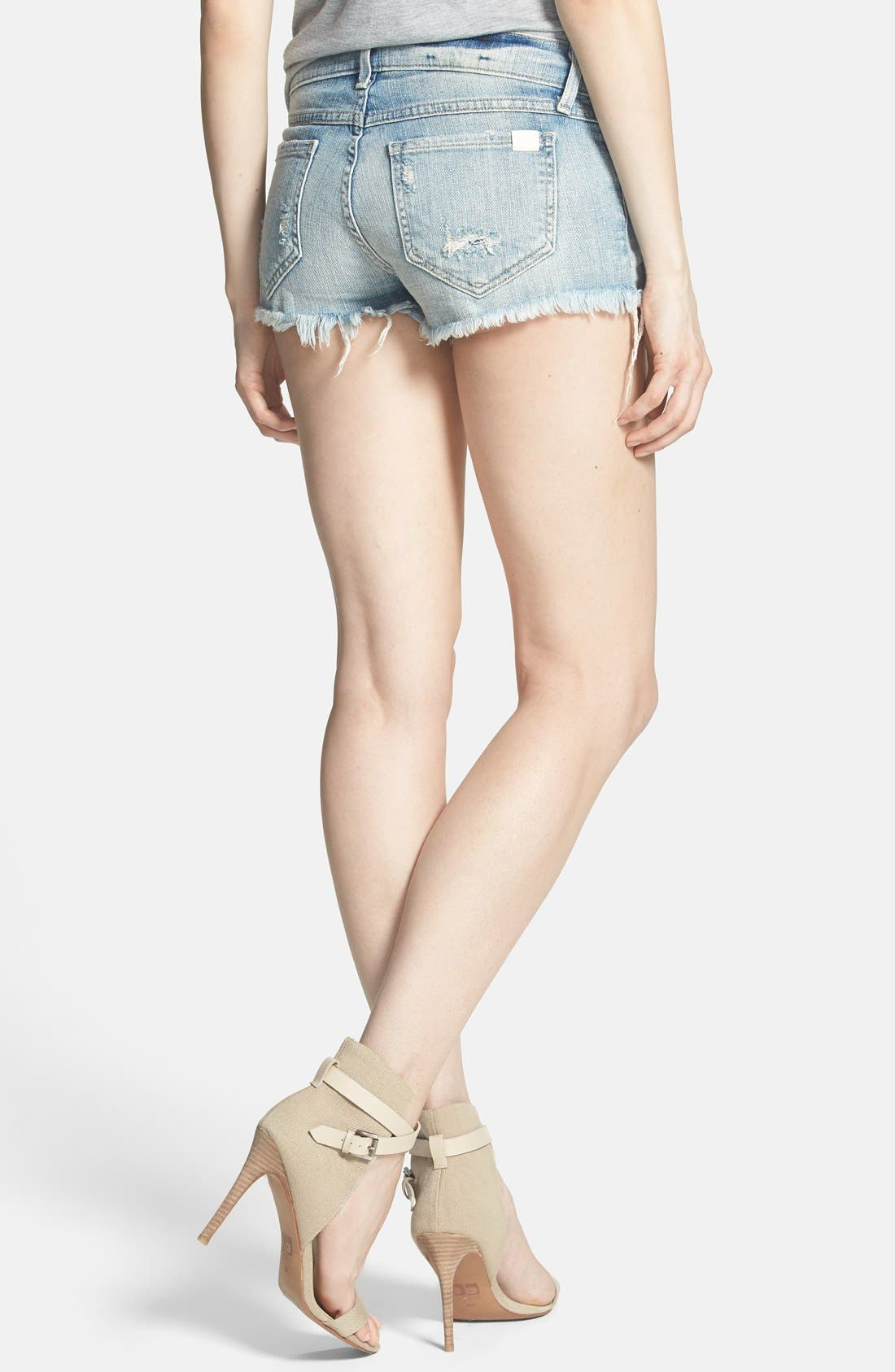 Alternate Image 2  - Wildfox 'Lara' Mid Rise Denim Cutoff Shorts (Taboo)