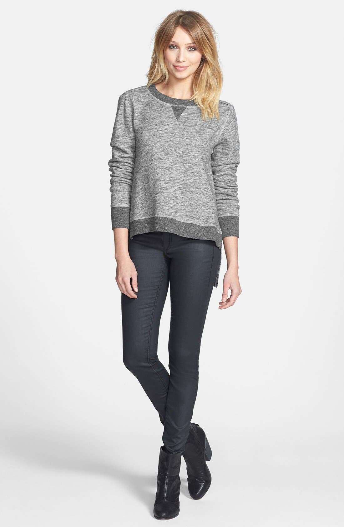 Alternate Image 4  - rag & bone/JEAN High/Low Cotton Sweatshirt