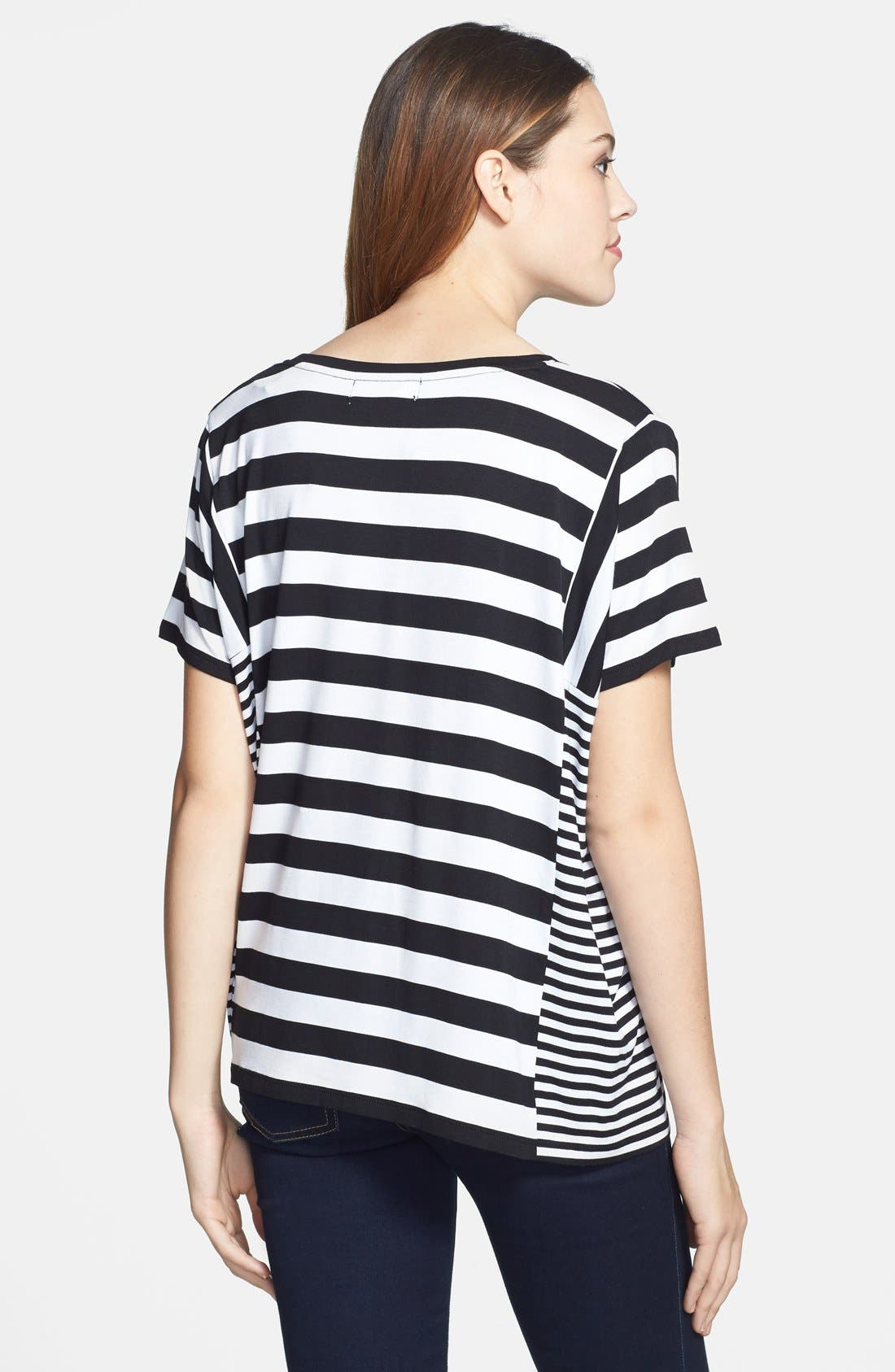 Alternate Image 2  - MICHAEL Michael Kors Stripe Panel Tee
