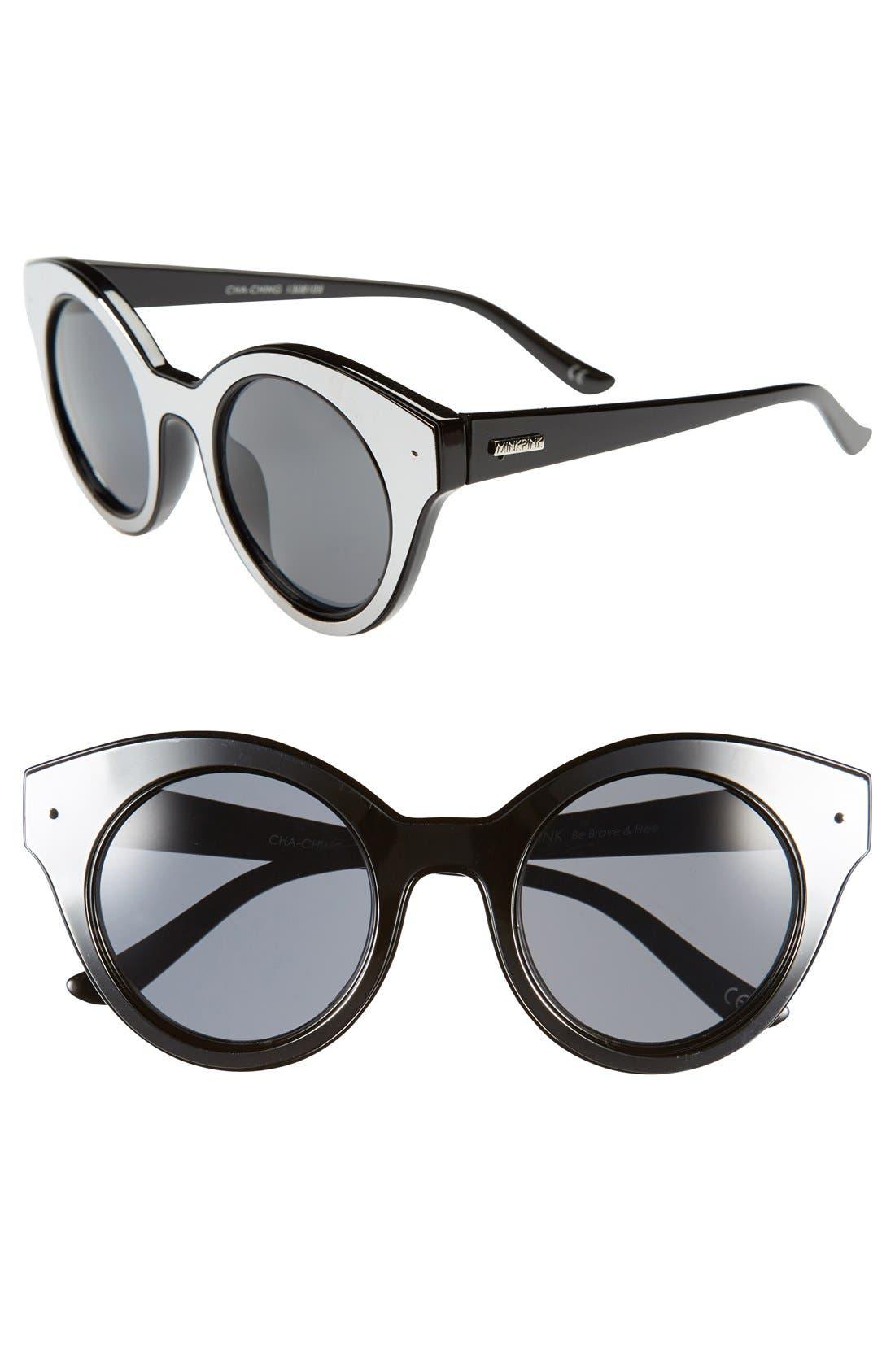 Main Image - MINKPINK 'Cah Ching' 47mm Sunglasses
