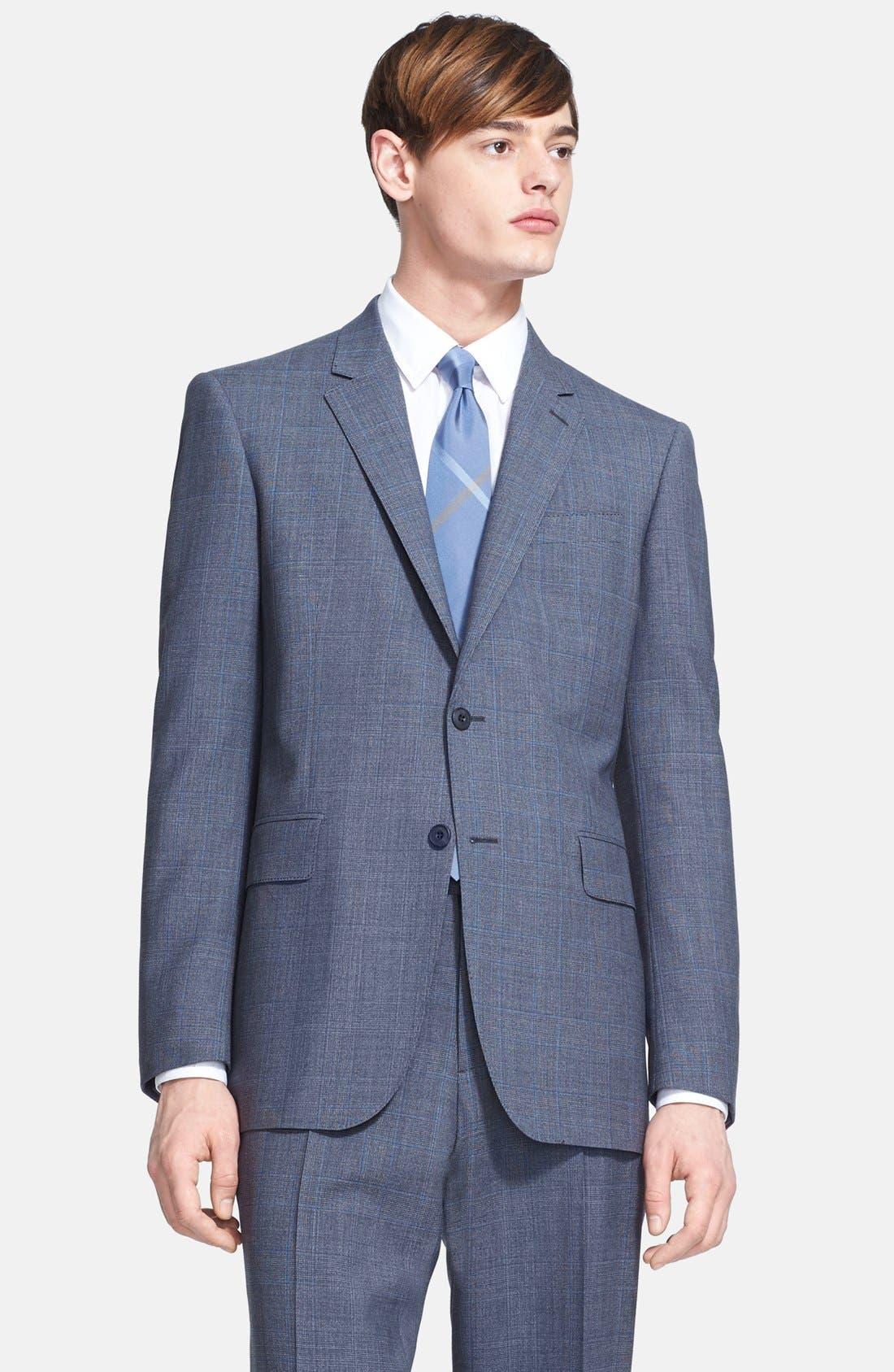 Alternate Image 3  - Burberry London 'Canbury' Glen Plaid Virgin Wool Suit