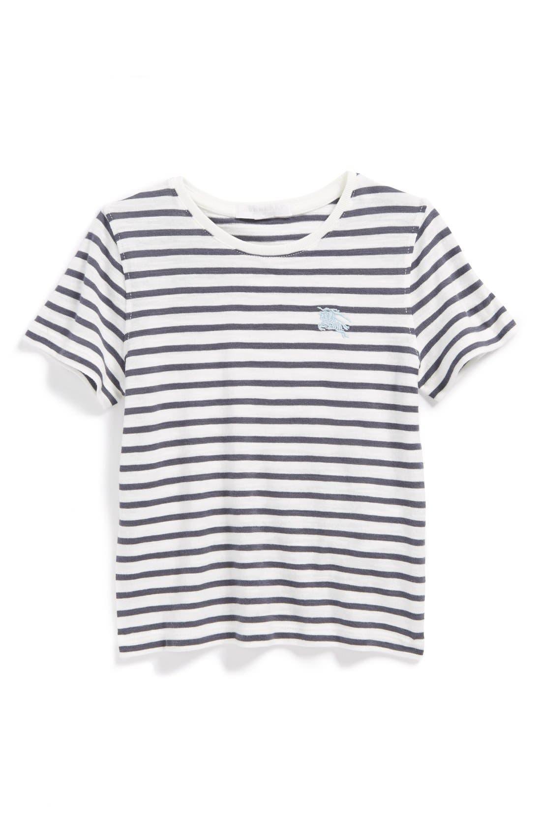 Main Image - Burberry Stripe T-Shirt (Little Boys & Big Boys)