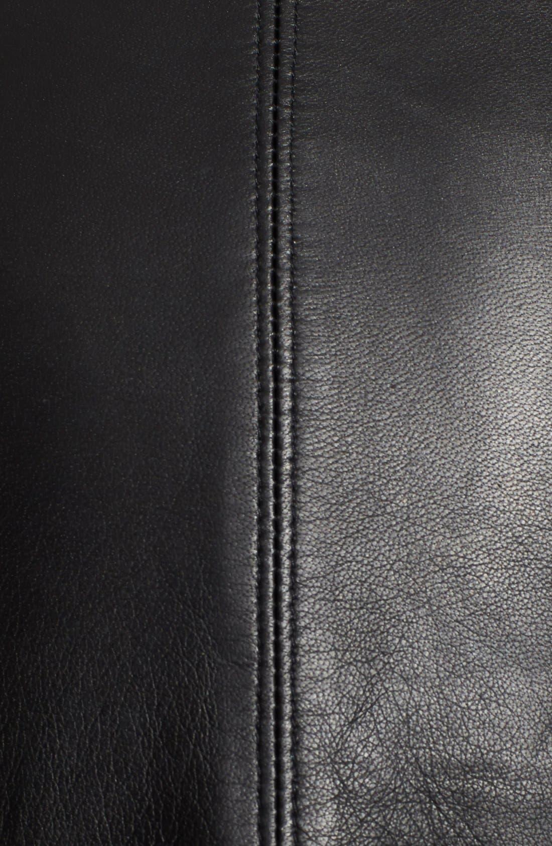 Alternate Image 3  - Helmut Lang Stretch Knit & Leather Jacket