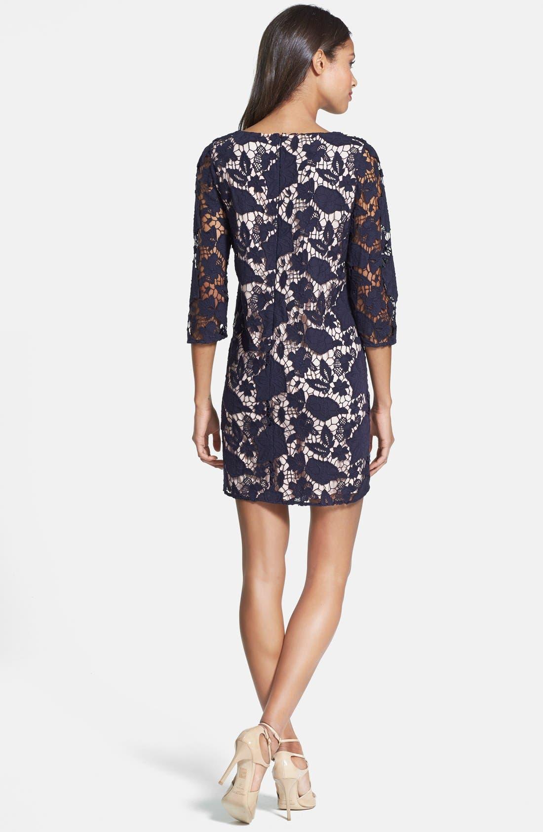 Alternate Image 2  - ERIN erin fetherston 'Amaryllis' Floral Lace Shift Dress