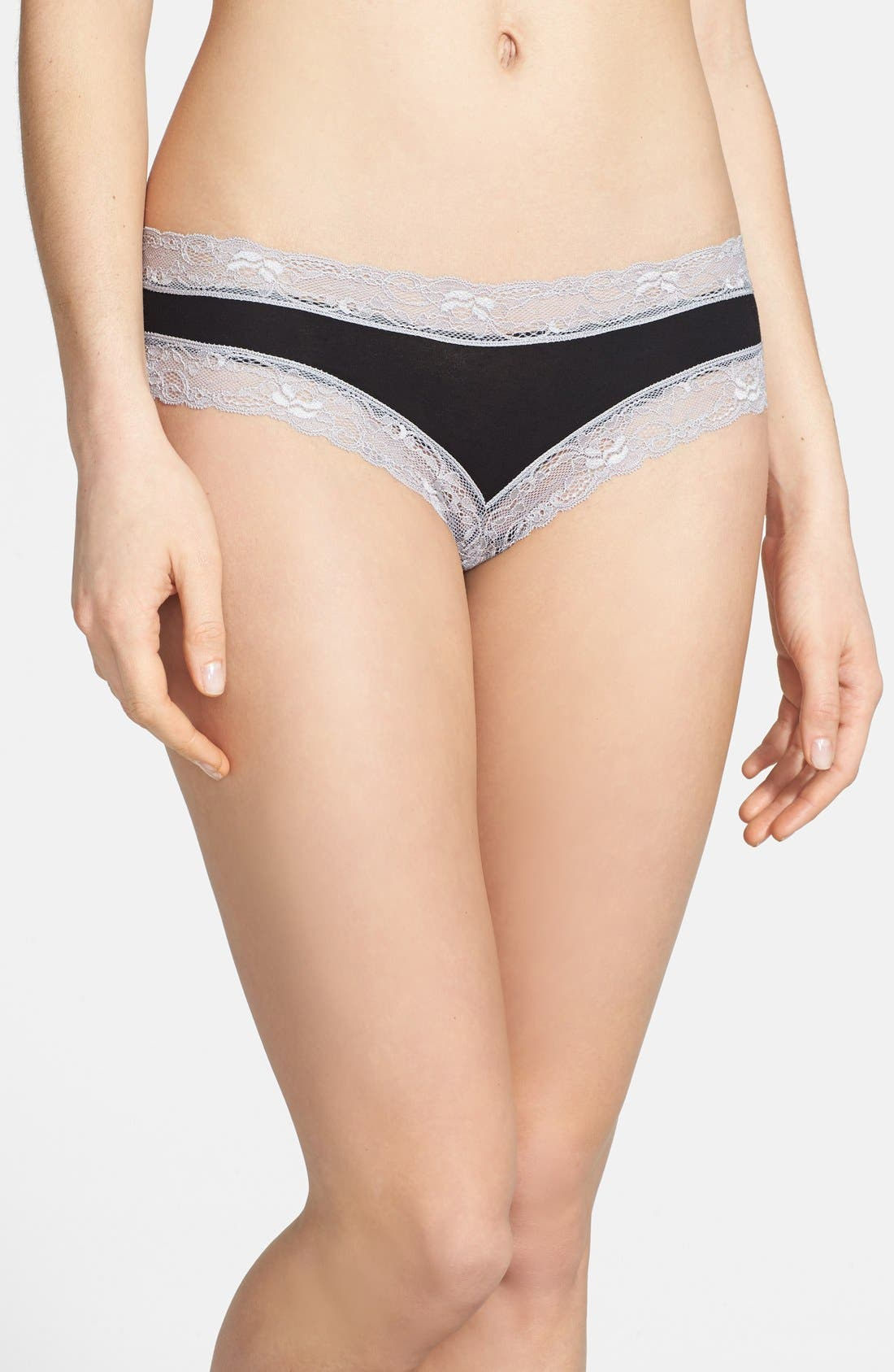 Alternate Image 1 Selected - Honeydew Intimates Lace Trim Cheeky Hipster Briefs