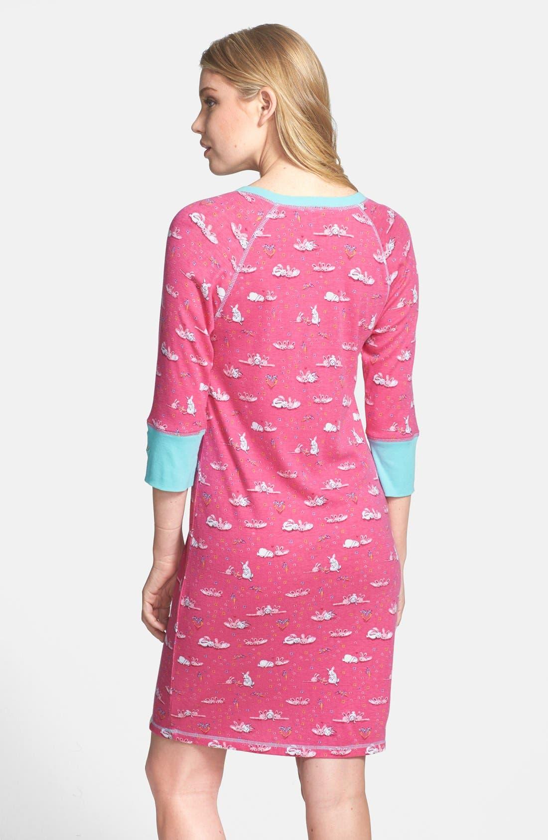 Alternate Image 2  - Munki Munki Three Quarter Sleeve Henley Night Shirt