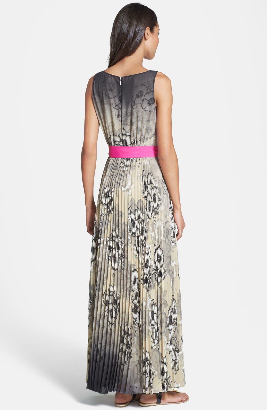 Alternate Image 2  - Eliza J Print Chiffon Maxi Dress
