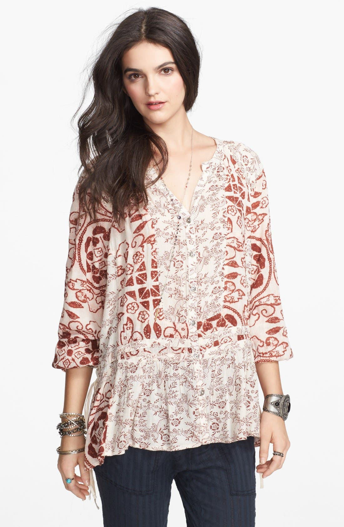 Alternate Image 1 Selected - Free People 'Ratio' Print Tunic Top