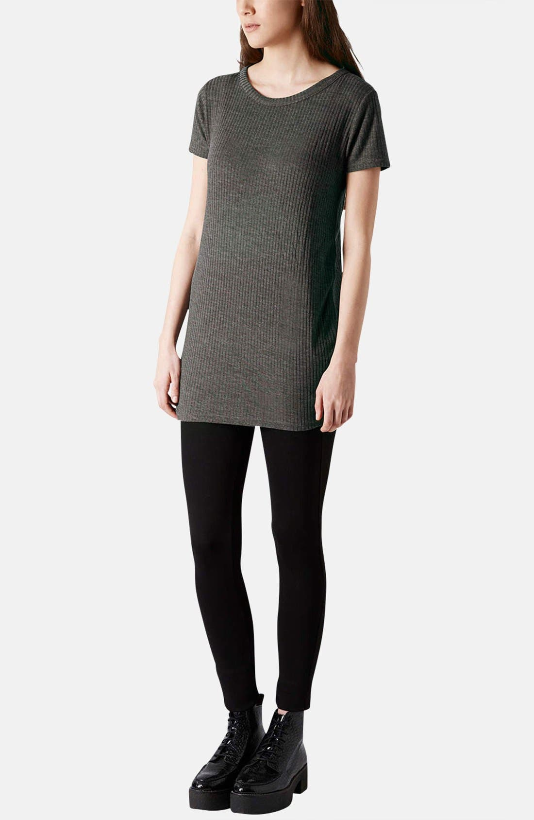 Alternate Image 5  - Topshop Ribbed Jersey Tunic Tee