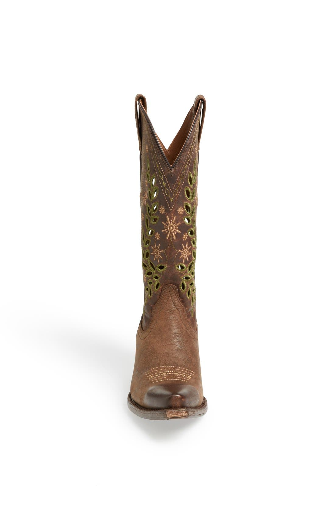 Alternate Image 3  - Ariat 'Arrosa' Embroidered Cutout Western Pointed Toe Boot