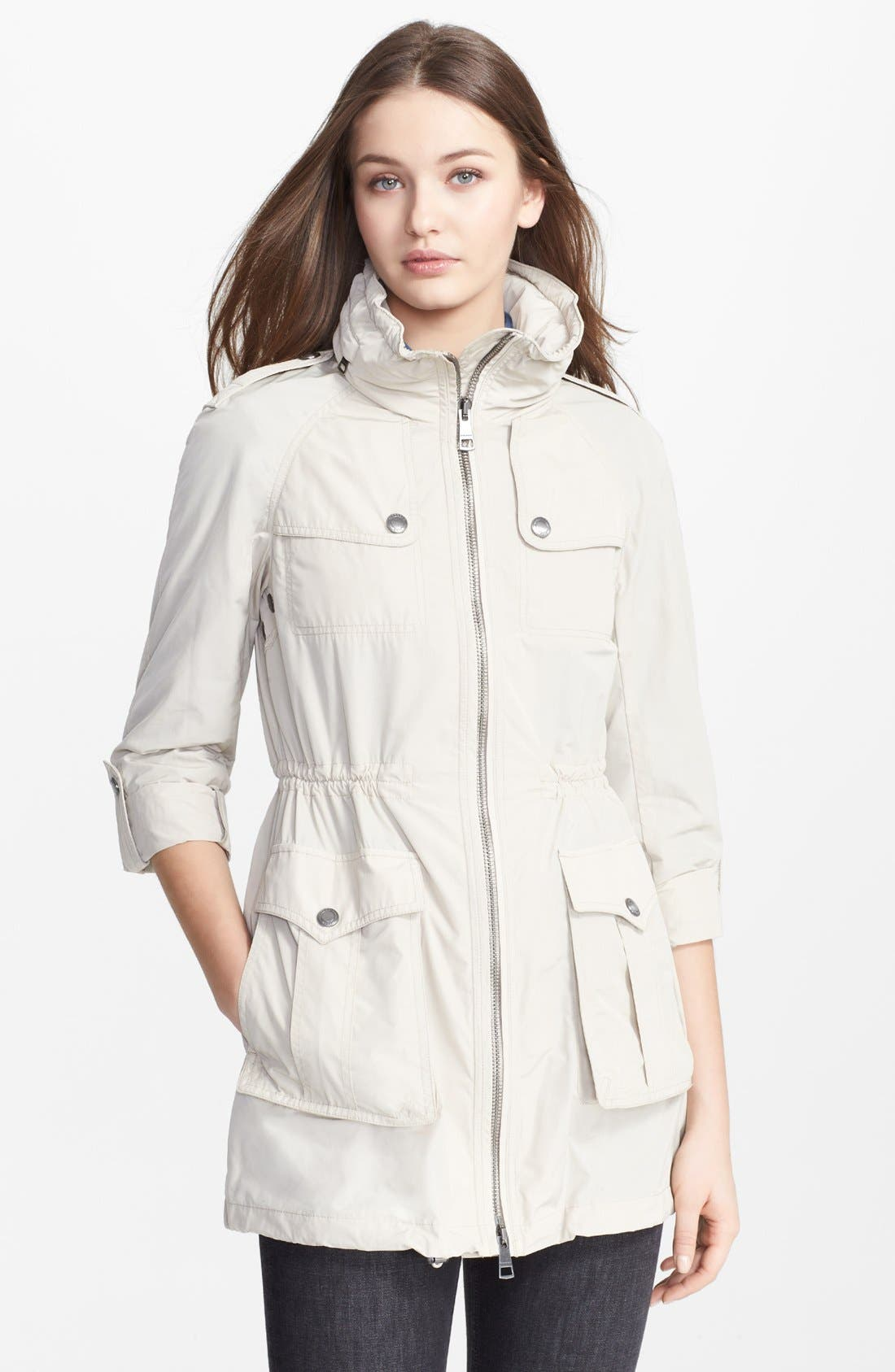 Alternate Image 1 Selected - Burberry Brit 'Badgeford' Rain Coat
