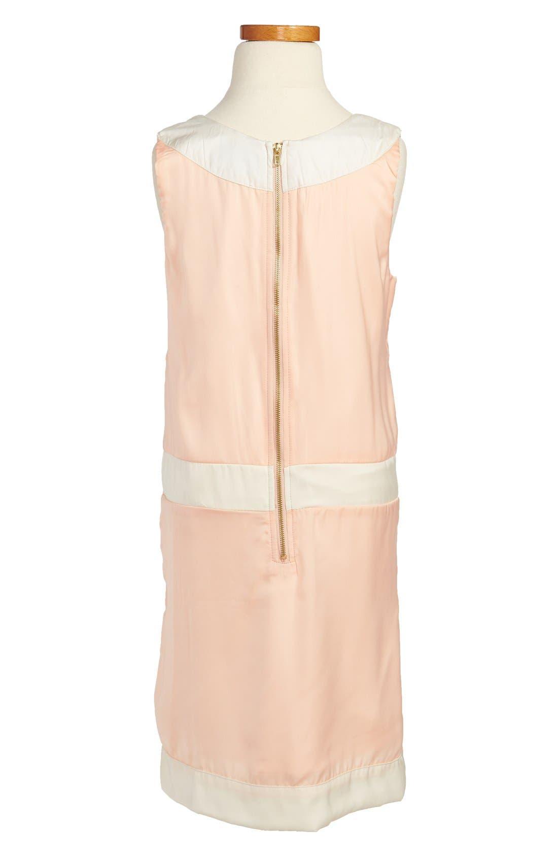 Alternate Image 2  - Laundry by Shelli Segal 'Catherine' Sleeveless Studded Dress (Big Girls)