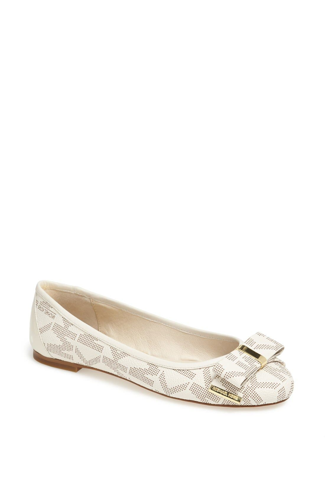 Alternate Image 1 Selected - MICHAEL Michael Kors 'Kiera' Leather Ballet Flat