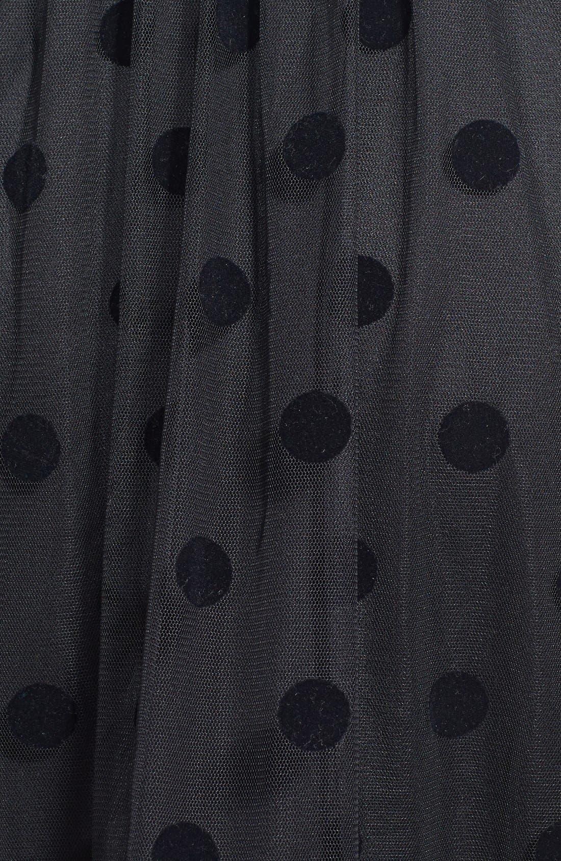 Alternate Image 3  - Betsey Johnson Polka Dot Mesh Gown