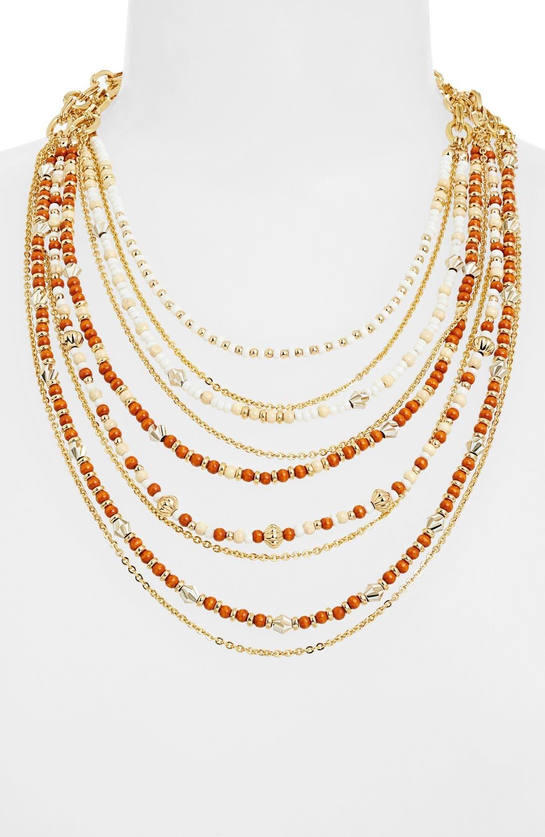 Alternate Image 2  - Nordstrom 'Safari' Beaded Layered Necklace