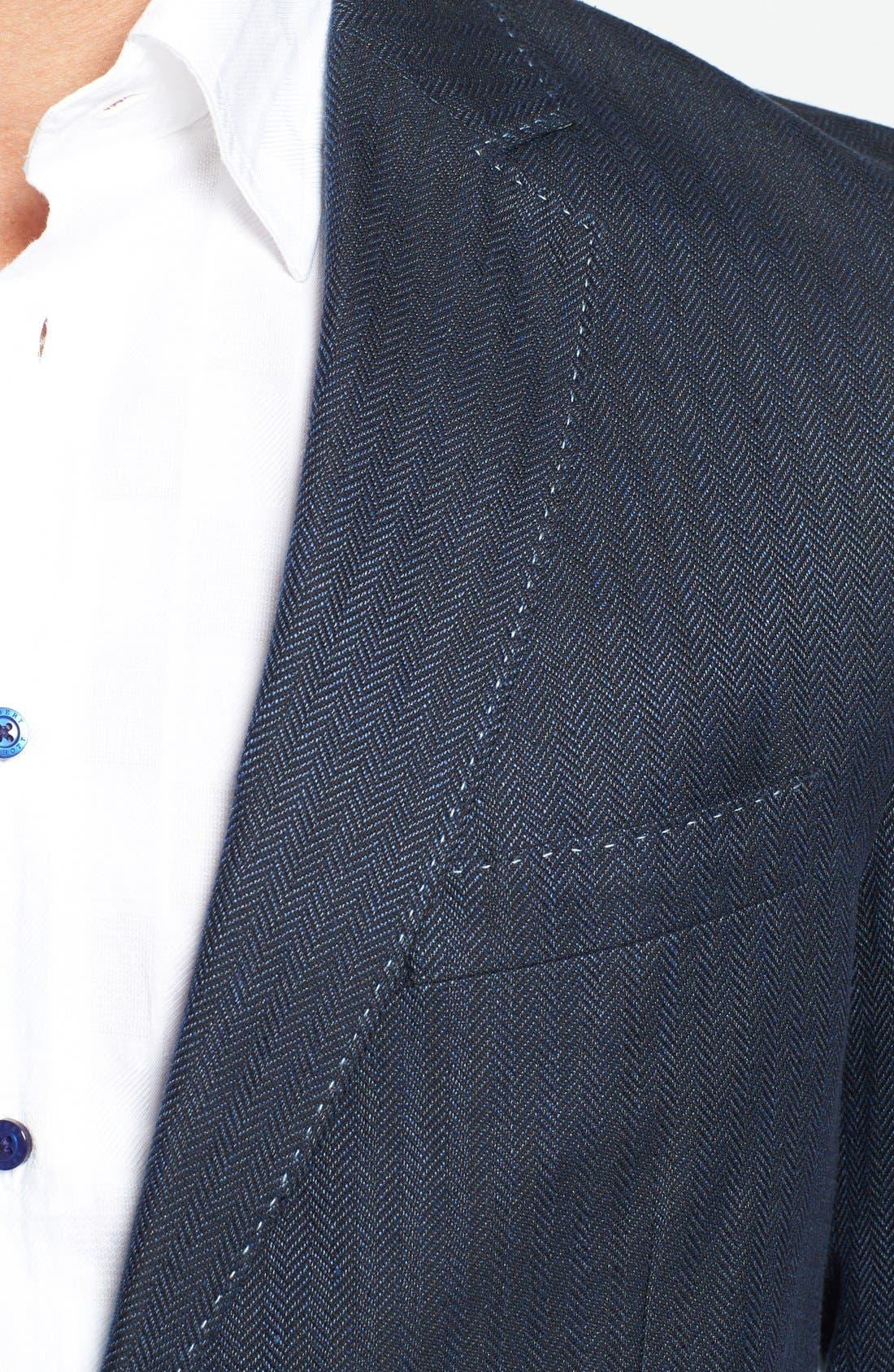 Alternate Image 3  - Robert Graham 'Campbell' Linen Blend Sportcoat