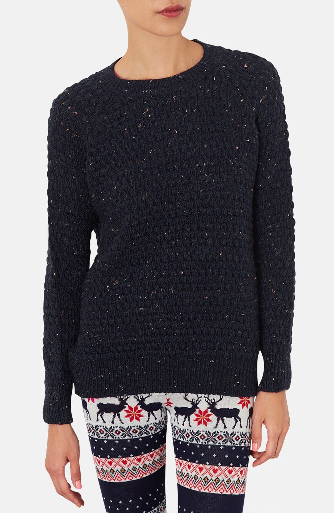 Alternate Image 1 Selected - Topshop Chunky Knit Sweater