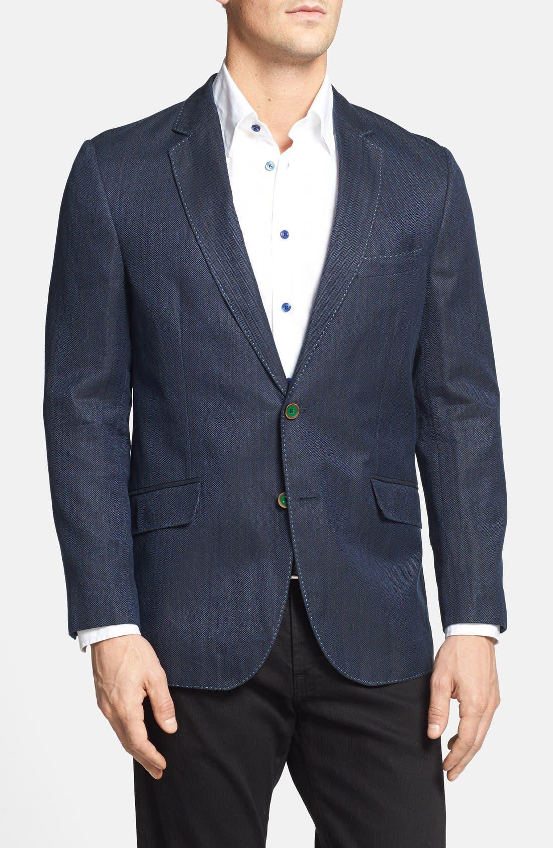 Alternate Image 1 Selected - Robert Graham 'Campbell' Linen Blend Sportcoat